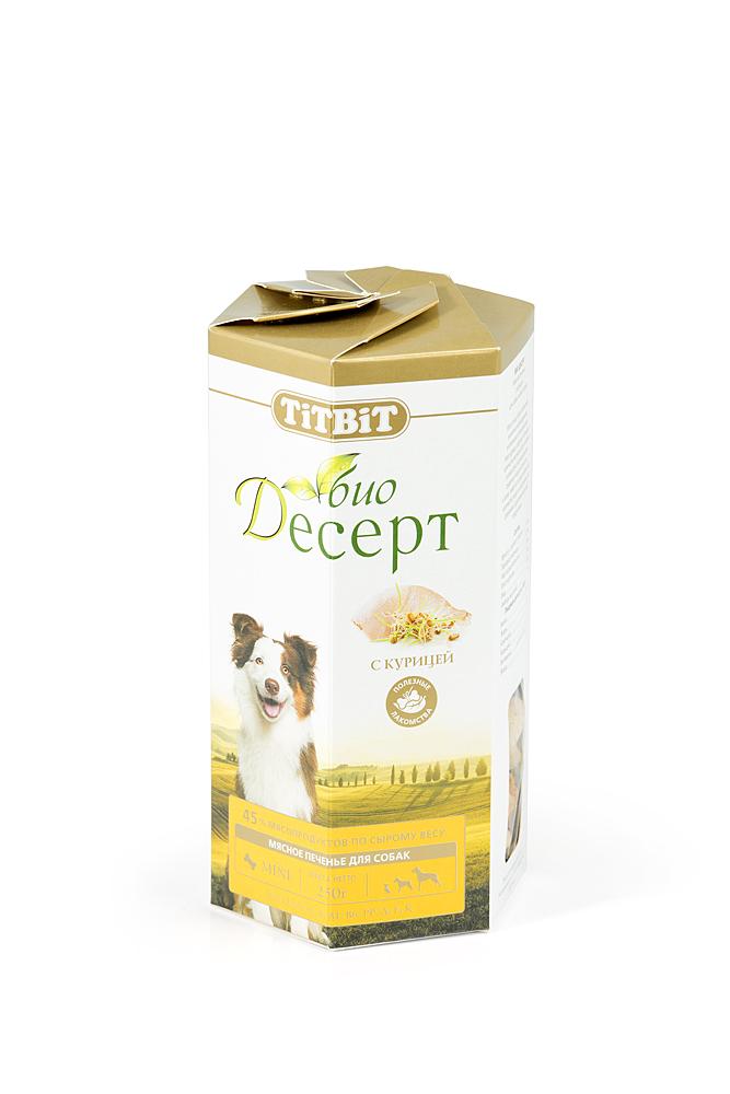 Лакомство для собак Titbit Био Десерт, печенье с курицей2961Мясо птицы богато белками, жизненно необходимыми витаминами и минералами, улучшающими обмен веществ и стимулирующими защитные функции организма. Мясо курицы содержит большое количество витамина В6, который снижает риск возникновения сердечно-коронарной недостаточности, а также имеет в составе меньшее количество жира и холестерина по сравнению с другими мясными продуктами. Состав: Мука в/с грубого помола 47%, пшеничный зародыш 32%, растительное масло 10%, мясо курицы 6%, мед 4%, молотый имбирь 1%.