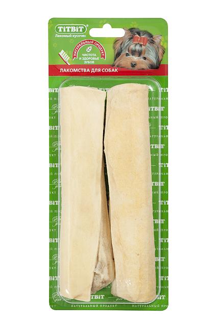 Лакомство для собак Titbit, сэндвич с говяжьим рубцом, 2 шт0120710Высушенная в форме сэндвича говяжья кожа с начинкой из рубца говяжьего. Упаковка содержит 2 штуки. Благодаря большому содержанию аминокислот и коллагена положительно воздействует на хрящевую ткань, состояние кожи и шерсти собаки. Рубец улучшает аполипропиленовый пакететит, устраняет ферментную недостаточность и придает лакомству особый вкус, который так нравится собаке. Благодаря волокнистой структуре являются своеобразной зубной щёткой, способствующей укреплению дёсен, удалениюзубного налёта и профилактике образования зубного камня.Состав: Высушенная кожа говяжья, рубец.