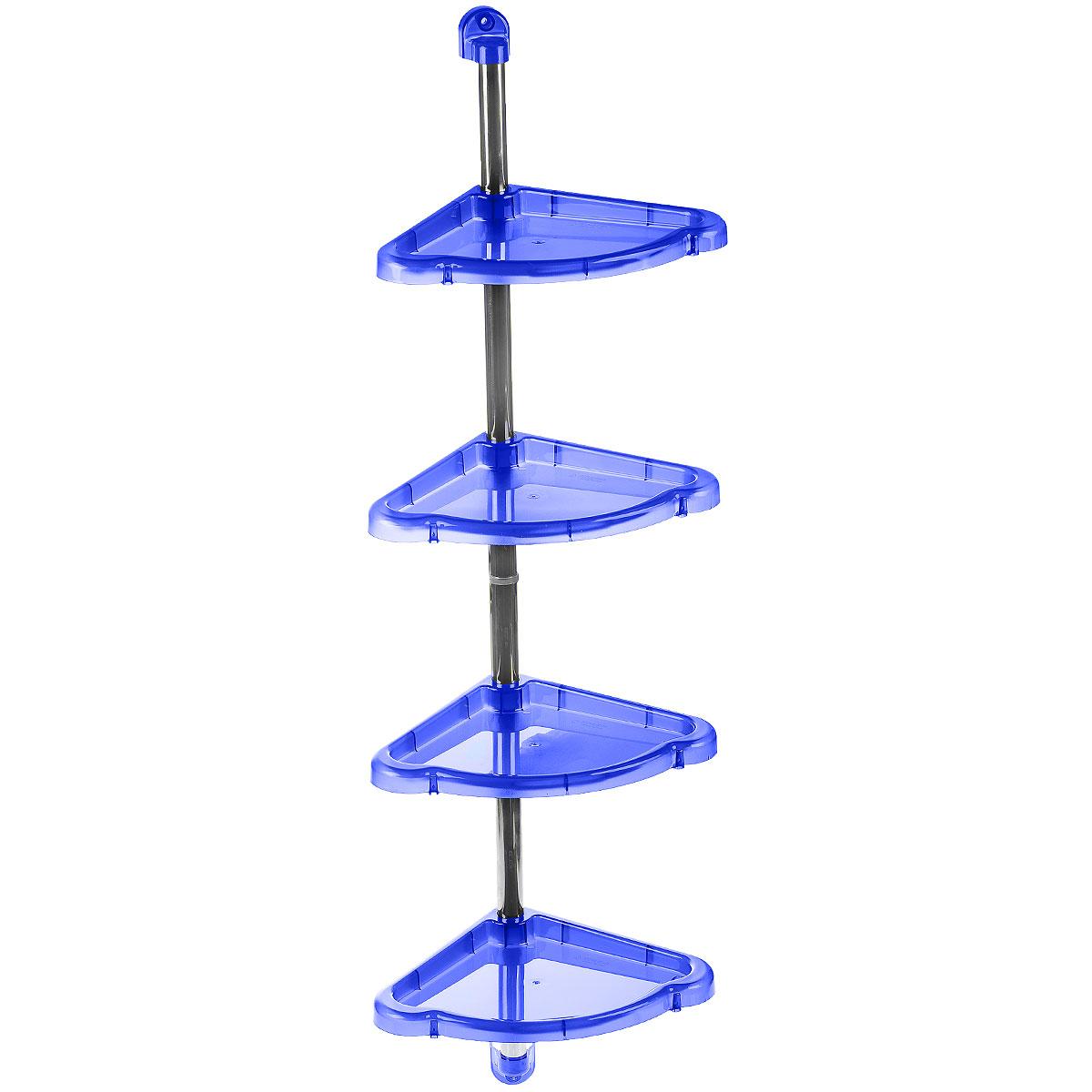 Этажерка угловая Berossi Elancia, 2-4-х ярусная, цвет: синий, 24 х 24 х 98,3 смАС12910Угловая этажерка Berossi Elancia выполнена из пластика и металла и предназначена для хранения различных предметов в ванной. Этажерка легко собирается и разбирается. Можно собрать как двухъярусную, так и четырехъярусную этажерку. У каждой полки по переферии есть небольшие отверстия, предназначенные для стекания воды. Этажерка придется особенно кстати, если у вас небольшая ванная: она займет минимум пространства. Размер 4-х ярусной этажерки (ДхШхВ): 24 см х 24 см х 98,3 см. Размер 2-х ярусной этажерки (ДхШхВ): 24 см х 24 см х 53,6 см.