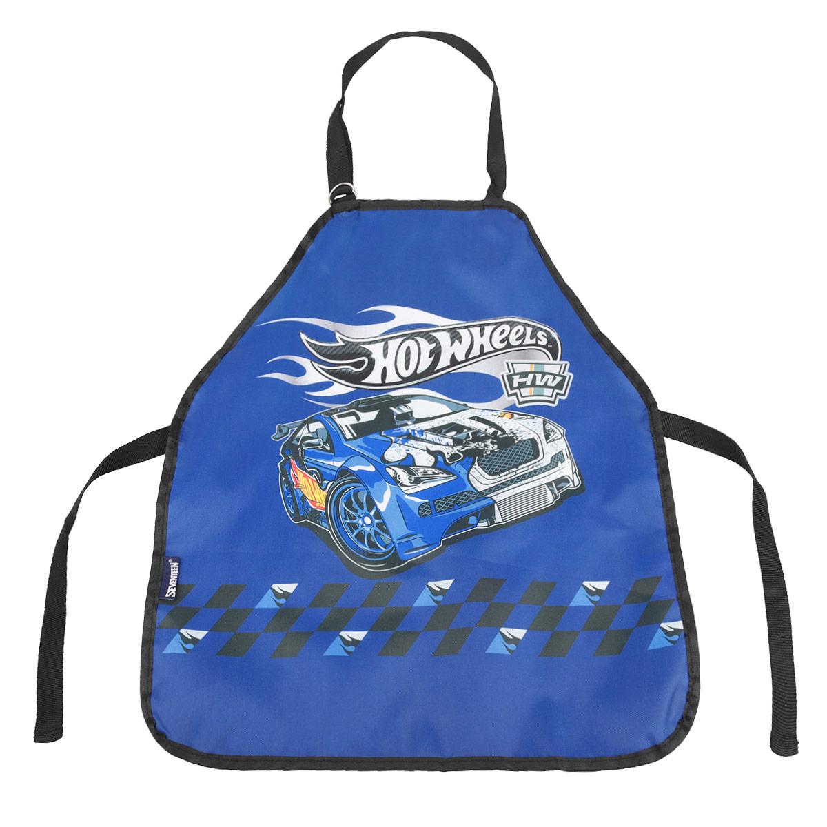 Фартук для труда Hot Wheels, цвет: синийHWCB-UT1-029MФартук для детского творчества Hot Wheels надежно защитит одежду ребенка во время занятий рисованием, лепкой и на уроках труда. Фартук изготовлен из прочной водонепроницаемой легкостирающейся ткани синего цвета и оформлен изображением гоночной машины. Его можно зафиксировать на талии и на шее с помощью специальных ремней. Завязки позволяют зафиксировать фартук на талии. Ремень, предназначенный для фиксации на шее, имеет металлические приспособления для регулировки длины. Ваш малыш сможет смело рисовать, не боясь испачкаться о свой шедевр, лепить из пластилина и заниматься многими творческими делами.