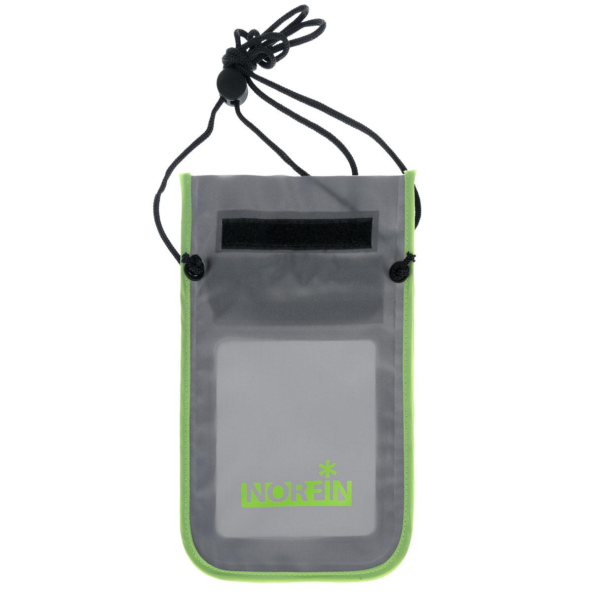 Гермочехол Norfin Dry Case 01, цвет: серый, салатовый, 25 см х 15 см сумка norfin dry case 02 nf 40307