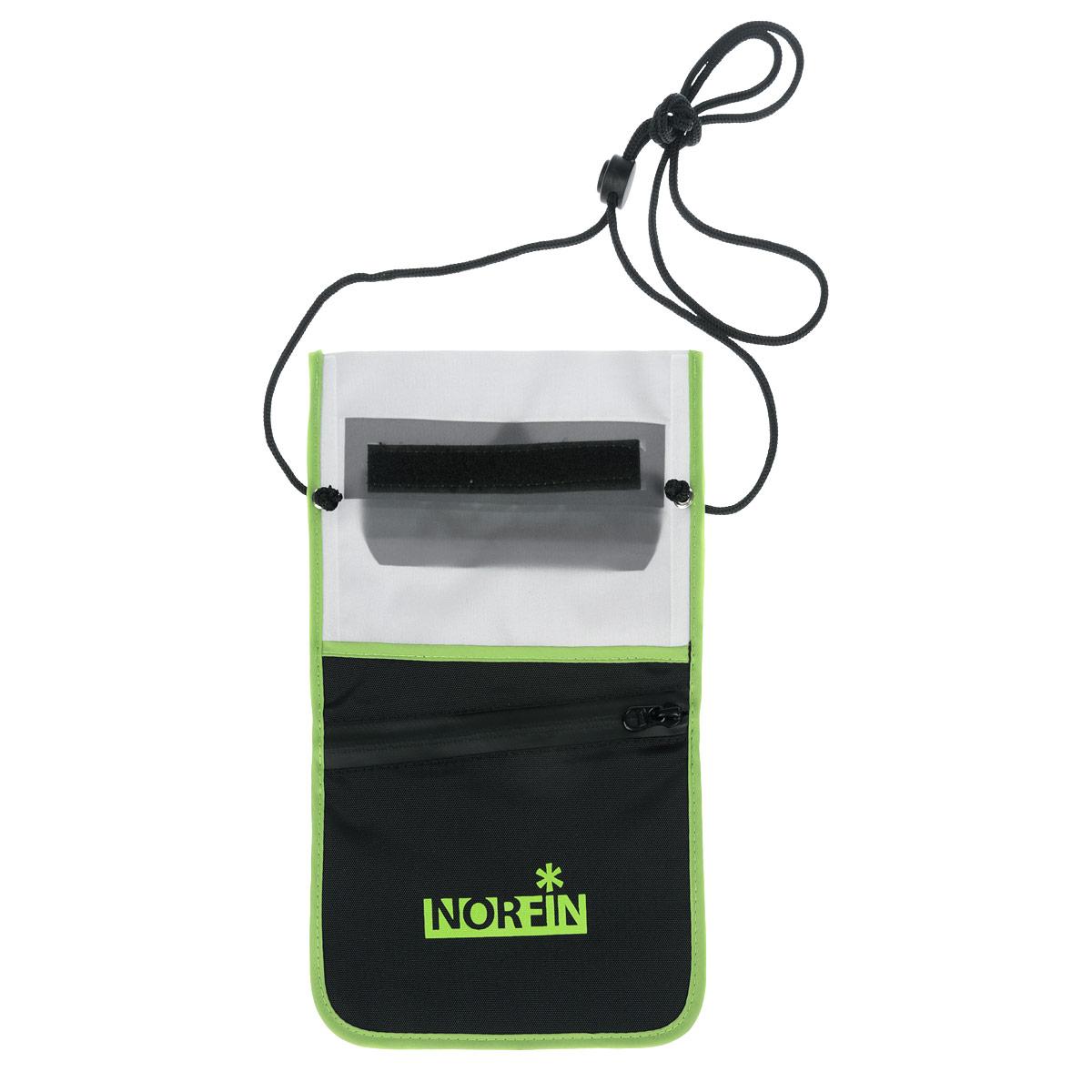 Гермочехол Norfin Dry Case 03, цвет: серый, черный, 28 см х 17 смNF-40308Гермочехол нагрудный Norfin Dry Case 03 предназначен для защиты небольших предметов от воды: документы, телефон, планшет-мини. Особенности: Идеален для защиты планшетов-мини с размером диагонали до 7,9. Пленка гермочехла чувствительна к теплу рук, можно пользоваться планшетом не вынимая его из чехла. Два кармана на задней стороне сумки, один из которых с водонепроницаемой молнией.