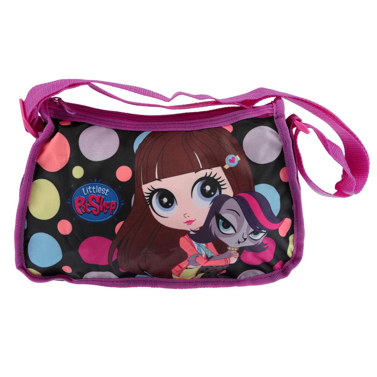 """Сумочка детская """"Littlest Pet Shop"""", цвет: розовый, черный LPCB-UT3-4014"""