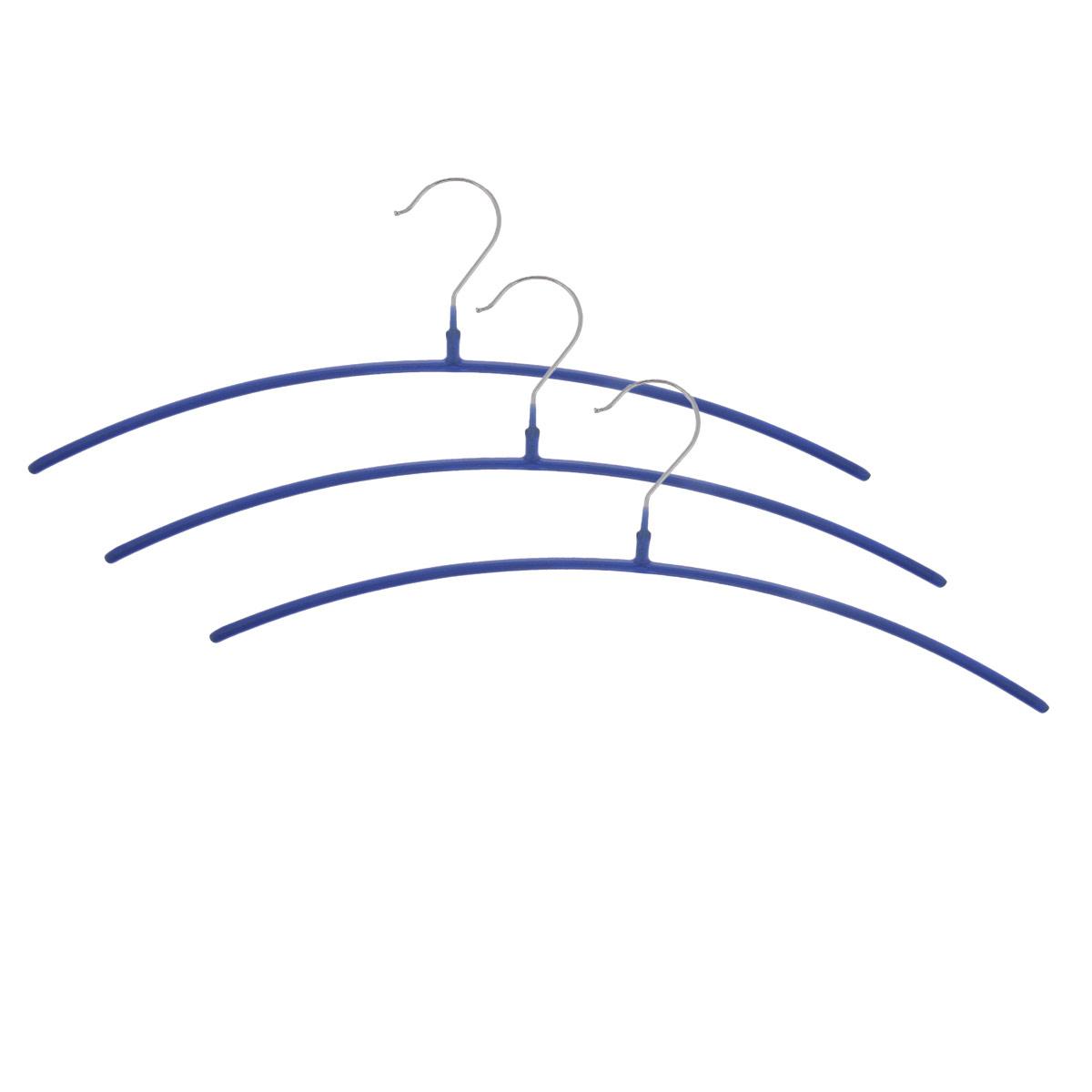 Набор вешалок Metaltex, цвет: синий, длина 41,5 см, 3 шт55.21.07_синий_синийКомплект вешалок Metaltex изготовлен из металла и полимерного материала. Плечики каждой вешалки покрыты противоскользящим полимером. Вешалка - это незаменимая вещь для того, чтобы ваша одежда всегда оставалась в хорошем состоянии. Комплектация: 3 шт.