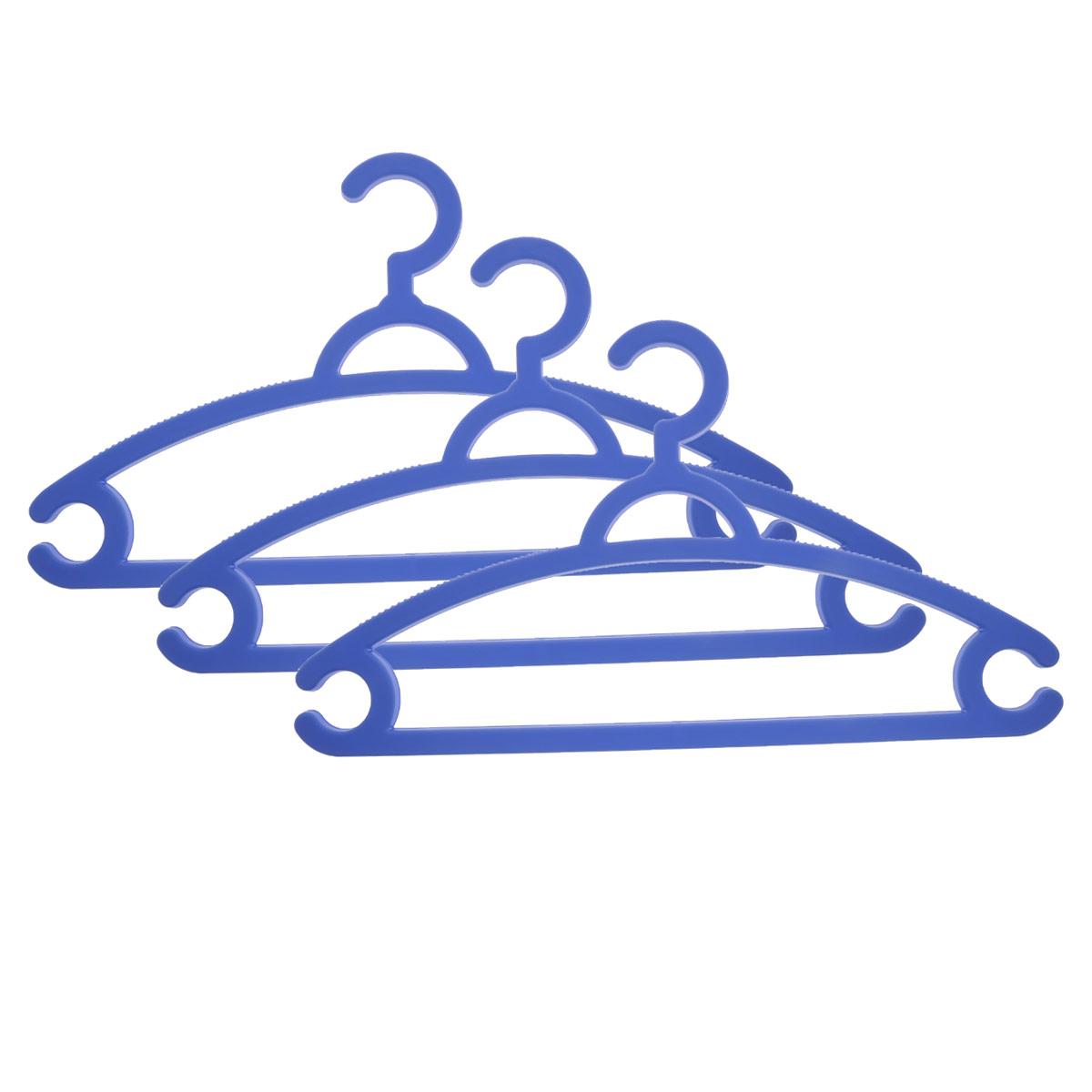 Набор вешалок для легкой одежды М-пластика, цвет: голубой, 3 штМ 2212Набор М-пластика, выполненный из легкого и прочного пластика, состоит из трех вешалок. Изделия оснащены перекладинами и двумя крючками. Вешалка - это незаменимая вещь для того, чтобы ваша одежда всегда оставалась в хорошем состоянии. Комплектация: 3 шт.