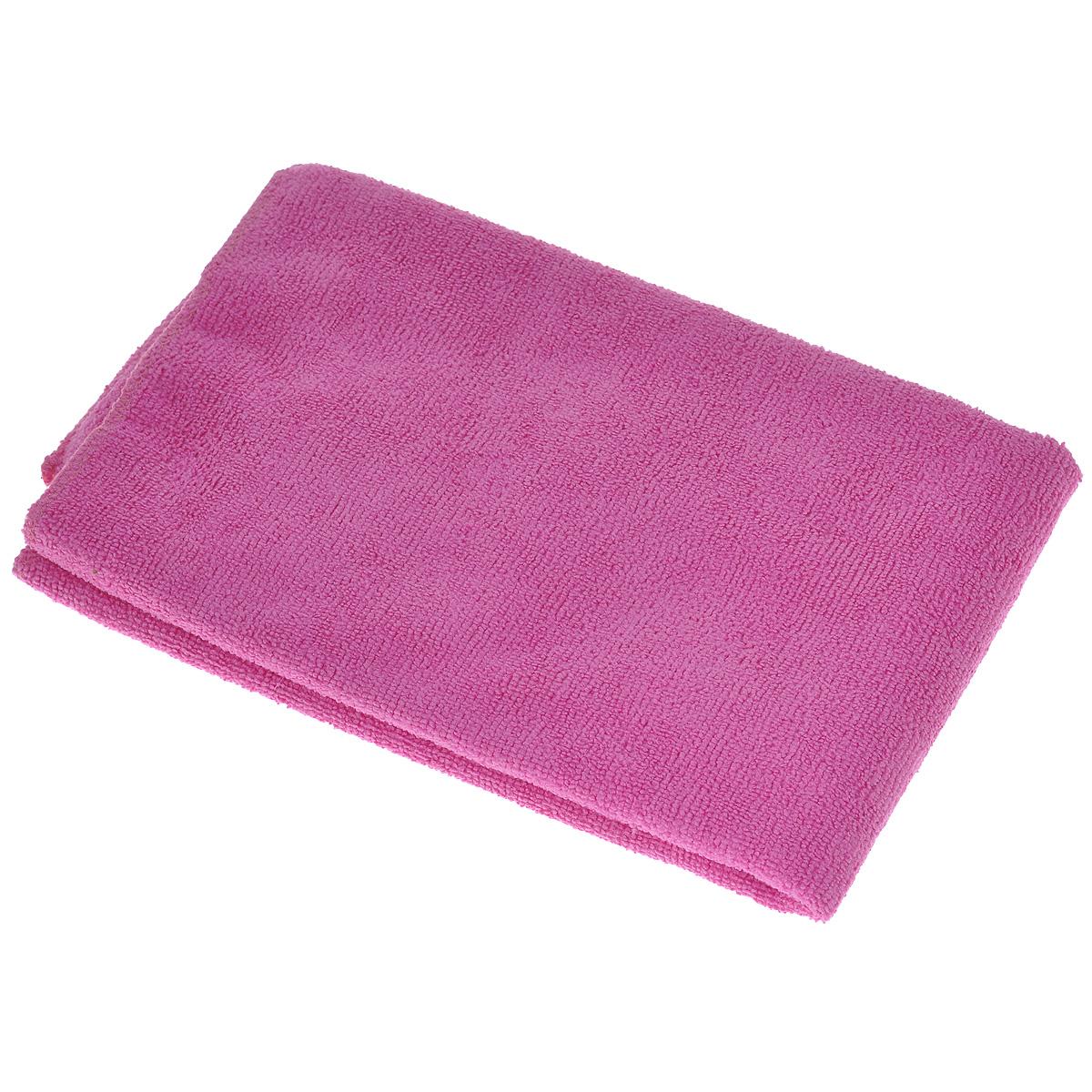 Тряпка для пола Eva, цвет: розовый, 50 см х 60 смЕ73_розовыйТряпка для пола Eva выполнена из микрофибры (полиэстера и полиамида). Благодаря микроструктуре волокон она проникает в поры материалов, а поэтому может удалять загрязнения без применения химических средств. Тряпка удерживает влагу, не оставляет разводов и ворса.
