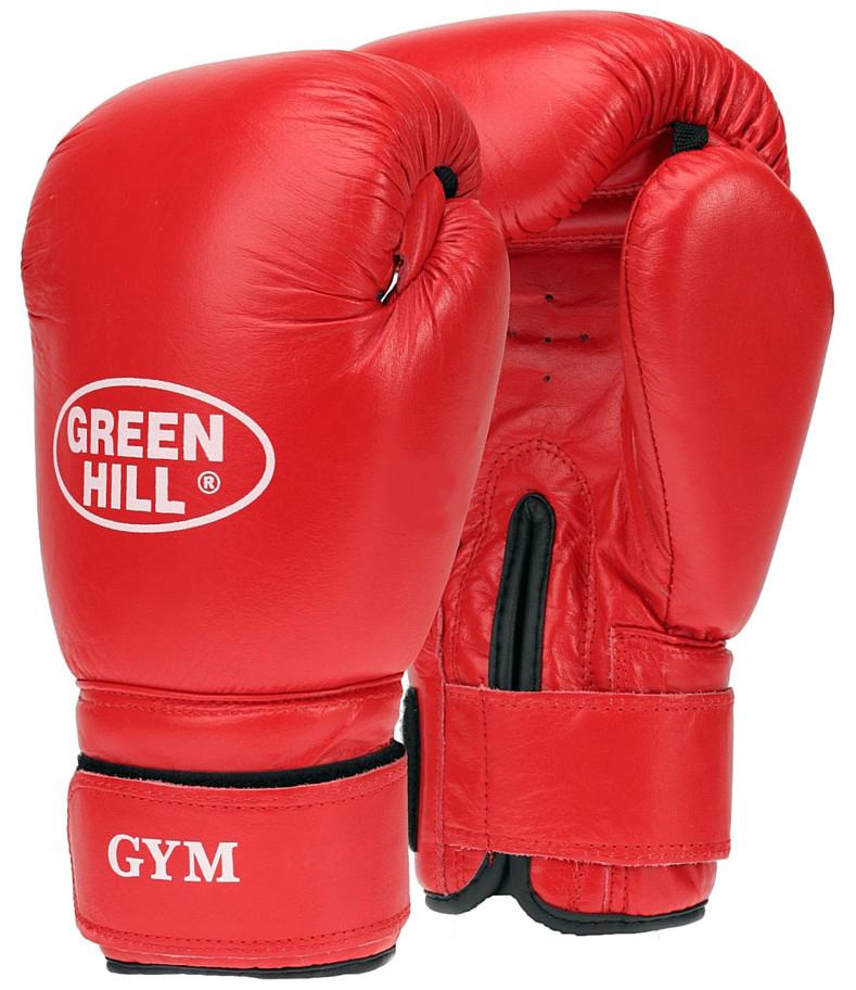 """Перчатки боксерские Green Hill """"Gym"""", цвет: красный. Вес 10 унций BGG-2018"""