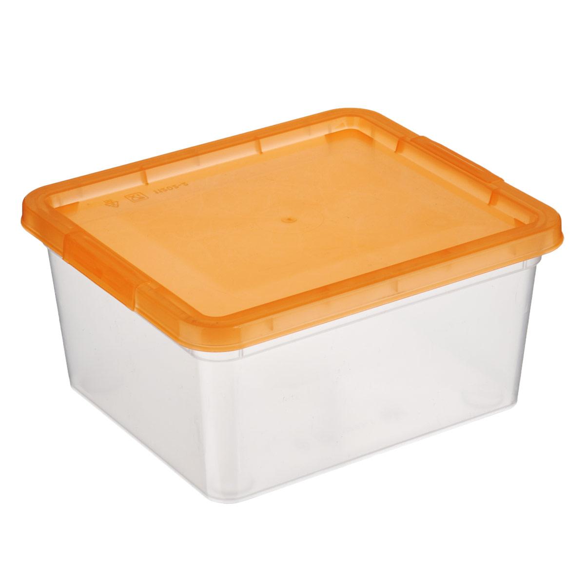 Коробка для мелочей Полимербыт, цвет: оранжевый, 1,9 лС510 оранжевыйКоробка для мелочей Полимербыт изготовлена из прочного пластика. Стенки изделия прозрачные, что позволяет видеть содержимое. Цветная полупрозрачная крышка плотно закрывается и легко открывается. Коробка идеально подходит для хранения различных мелких бытовых предметов, таких как канцелярские принадлежности, аксессуары для рукоделия и т.д. Такая коробка сохранит все мелкие предметы в одном месте и поможет поддерживать в доме порядок.