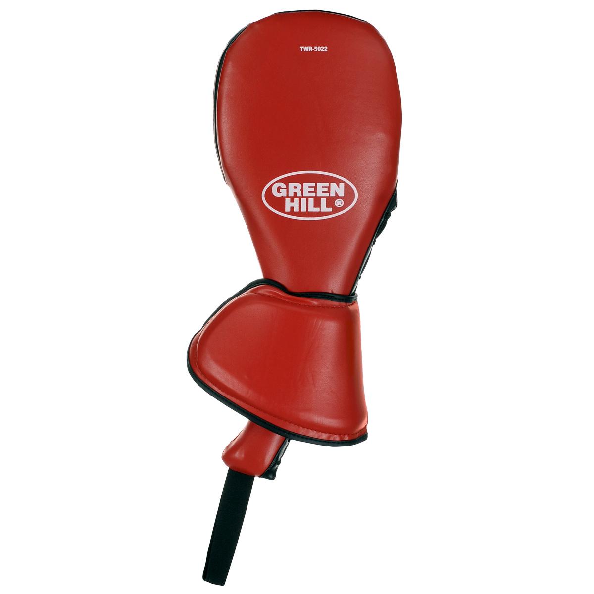 Ракетка для тхэквондо Green Hill, двойная, цвет: красный. TWR-5022