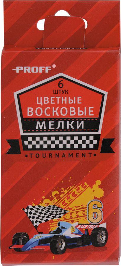 Мелки школьные восковые 06 цветов Proff. Racing в картонной коробке с европодвесомDH15-CR06