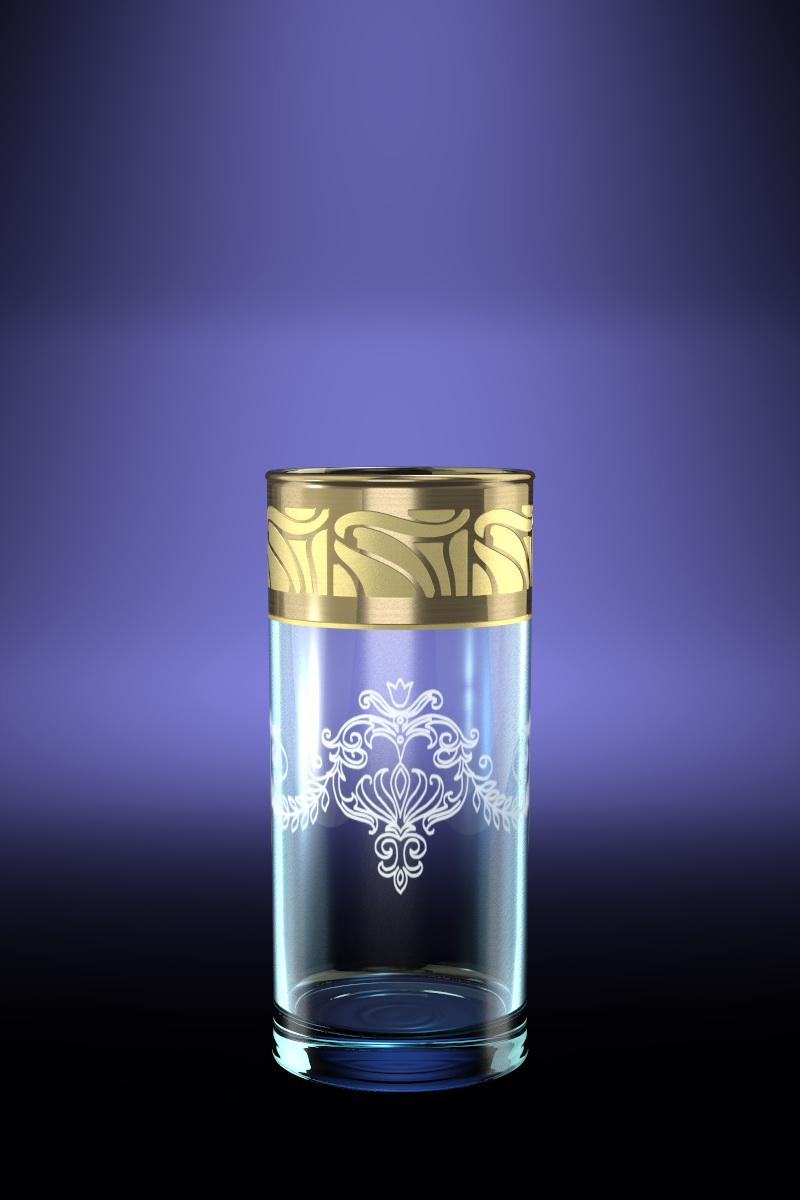 Набор 6 стаканов для сока с рисунком Мускат 290 млGE05-402Набор 6 стаканов для сока с рисунком Мускат 290 мл стекло