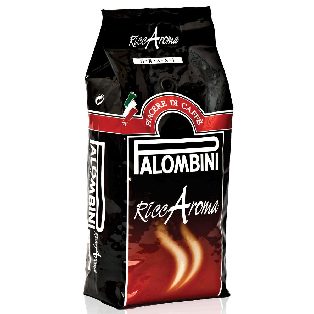 Palombini Riccaroma кофе в зернах, 1 кг8009785305456Натуральный жареный кофе в зернах Palombini Riccaroma, высшего сорта. Совершенное сочетание насыщенной консистенции и устойчивой пенки создает приятный мягкий вкус. Рекомендуется для приготовления: эспрессо, капучино, ристретто. Смесь содержит 90% арабики и 10% робусты.