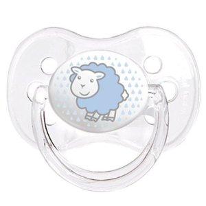 Canpol Babies Пустышка силиконовая Овечка 18 месяцев цвет голубой
