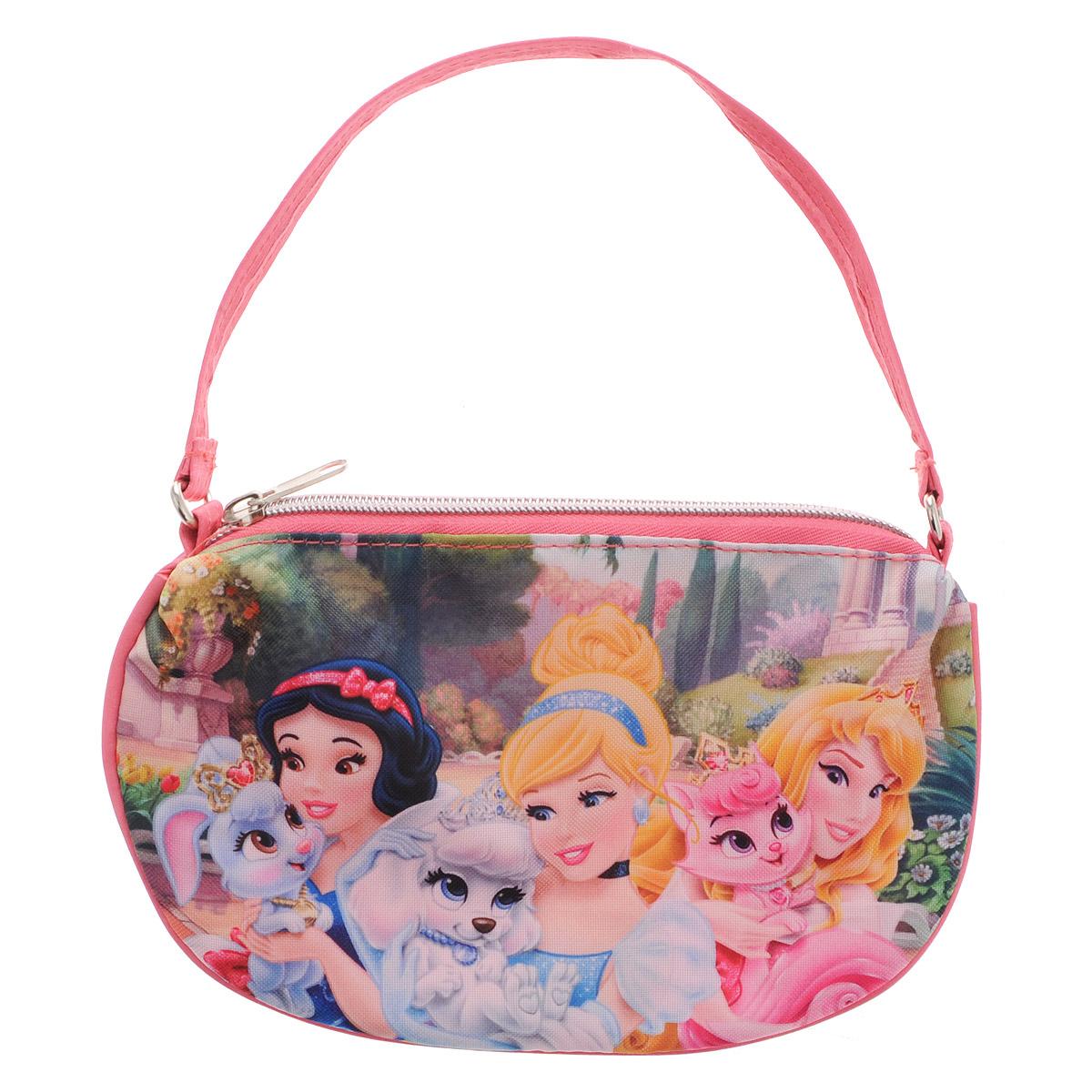 Сумочка Princess, цвет: розовый. PRCB-UT4-4017OM-678-1/2Яркая сумочка Princess станет незаменимым аксессуаром для вашей маленькой модницы!Она изготовлена из текстильного материала и оформлена объемной аппликацией в виде изображений любимых сказочных героев. Сумка имеет одно отделение и закрывается на застежку-молнию. Ваша малышка с удовольствием будет носить в ней свои вещи, любимые игрушки или аксессуары. Порадуйте ее таким замечательным подарком!