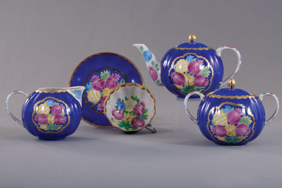 Сервиз чайный з 15 предм. Тюльпан КрасавицаС132Сервиз чайный з 15 предм. Тюльпан Красавица фарфор
