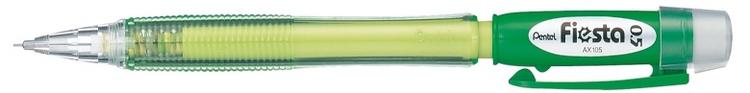 Карандаш авт. FIESTA зеленый корпус 0.5 мм в блистере72523WDДиаметр грифеля 0.5 мм.Надежные карандаши с яркими цветами корпуса и мягким качественным ластиком под прозрачным колпачком.яркий цвет корпуса; мягкий качественный ластик под прозрачным колпачком.;