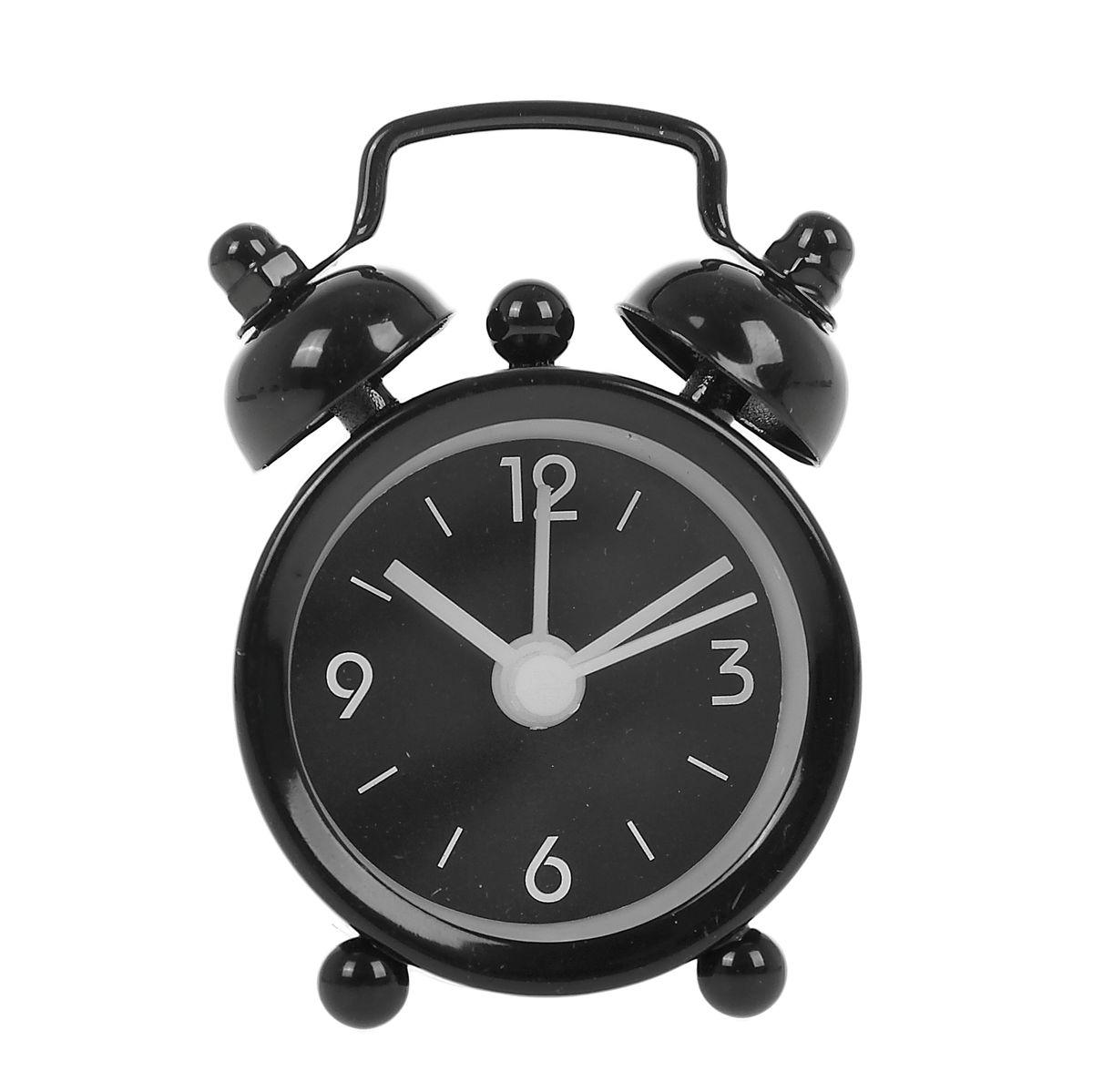 Часы-будильник Sima-land Супермини, цвет: черный720783Как же сложно иногда вставать вовремя! Всегда так хочется поспать еще хотя бы 5 минут и бывает, что мы просыпаем. Теперь этого не случится! Яркий, оригинальный мини-будильник Sima-land поможет вам всегда вставать в нужное время и успевать везде и всюду. Корпус будильника выполнен из металла. Часы снабжены 4 стрелками (секундная, минутная, часовая и для будильника). На задней панели будильника расположен переключатель включения/выключения механизма, а также два колесика для настройки текущего времени и времени звонка будильника. Пользоваться будильником очень легко: нужно всего лишь поставить батарейку, настроить точное время и установить время звонка. Часы работают от 1 батарейки типа LR44 (входит в комплект).