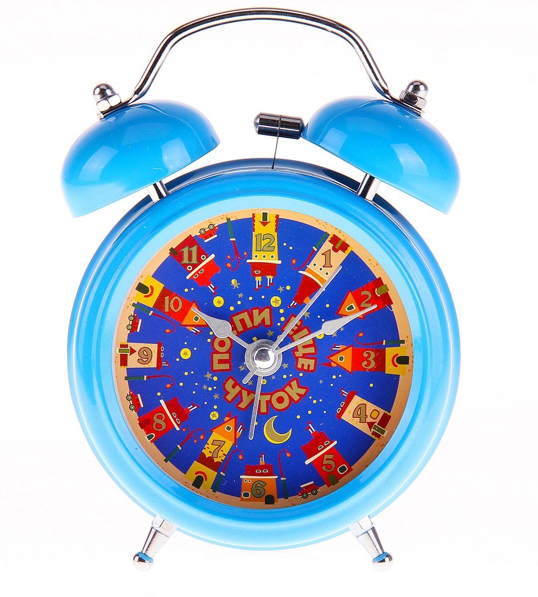 Часы-будильник Sima-land Поспи еще чуток728396Как же сложно иногда вставать вовремя! Всегда так хочется поспать еще хотя бы 5 минут и бывает, что мы просыпаем. Теперь этого не случится! Яркий, оригинальный будильник Sima-land Поспи еще чуток поможет вам всегда вставать в нужное время и успевать везде и всюду. Корпус будильника выполнен из металла. Циферблат оформлен ярким рисунком и надписью: Поспи еще чуток, имеет индикацию арабскими цифрами. Часы снабжены 4 стрелками (секундная, минутная, часовая и для будильника). На задней панели будильника расположен переключатель включения/выключения механизма, а также два колесика для настройки текущего времени и времени звонка будильника. Пользоваться будильником очень легко: нужно всего лишь поставить батарейку, настроить точное время и установить время звонка. Необходимо докупить 1 батарейку типа АА (не входит в комплект).