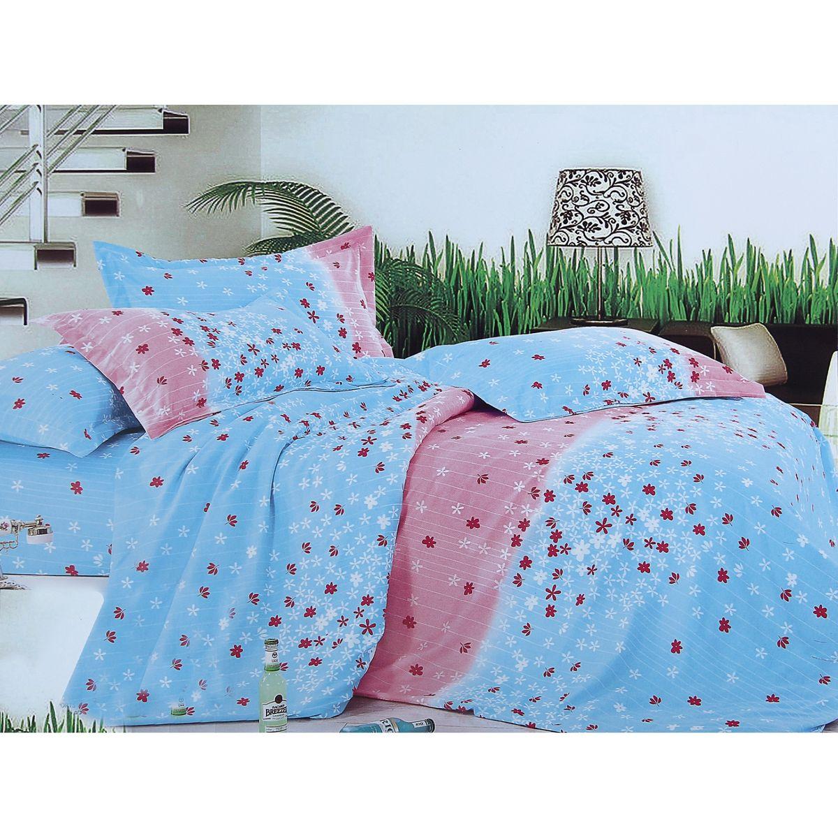 Комплект белья Этель Нежность, семейный, наволочки 70x70, цвет: голубой, розовыйDAVC150Комплект постельного белья Этель Нежность состоит из двух пододеяльников на молнии, простыни и двух наволочек без ушек. Удивительной красоты цветочный рисунок сочетает в себе нежность и теплоту. Постельное белье Этель создано для романтичных натур, которые любят изысканный дизайн. Белье изготовлено из поликоттона, отвечающего всем необходимым нормативным стандартам. Поликоттон - это ткань из экологически чистых материалов (50% хлопка, 50% полиэстера). Неоспоримым плюсом белья из такой ткани является мягкость и легкость, оно прекрасно пропускает воздух, приятно на ощупь, не образует катышков на поверхности и за ним легко ухаживать. При соблюдении рекомендаций по уходу это белье выдерживает много стирок, не линяет и не теряет свою первоначальную прочность. Уникальная ткань обеспечивает легкую глажку.Приобретая комплект постельного белья Этель Нежность, вы можете быть уверены в том, что покупка доставит вам и вашим близким удовольствие и подарит максимальный комфорт.