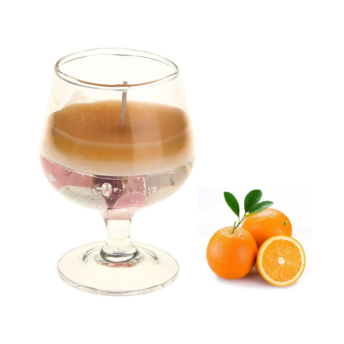 Свеча ароматизированная Sima-land Апельсин, высота 8 см825854Ароматизированная свеча Sima-land Апельсин изготовлена из воска и геля и поставляется в стеклянном бокале. Изделие отличается оригинальным дизайном и приятным ароматом. Такая свеча может стать отличным подарком или дополнить интерьер вашей комнаты. Диаметр по верхнему краю: 4,5 см.
