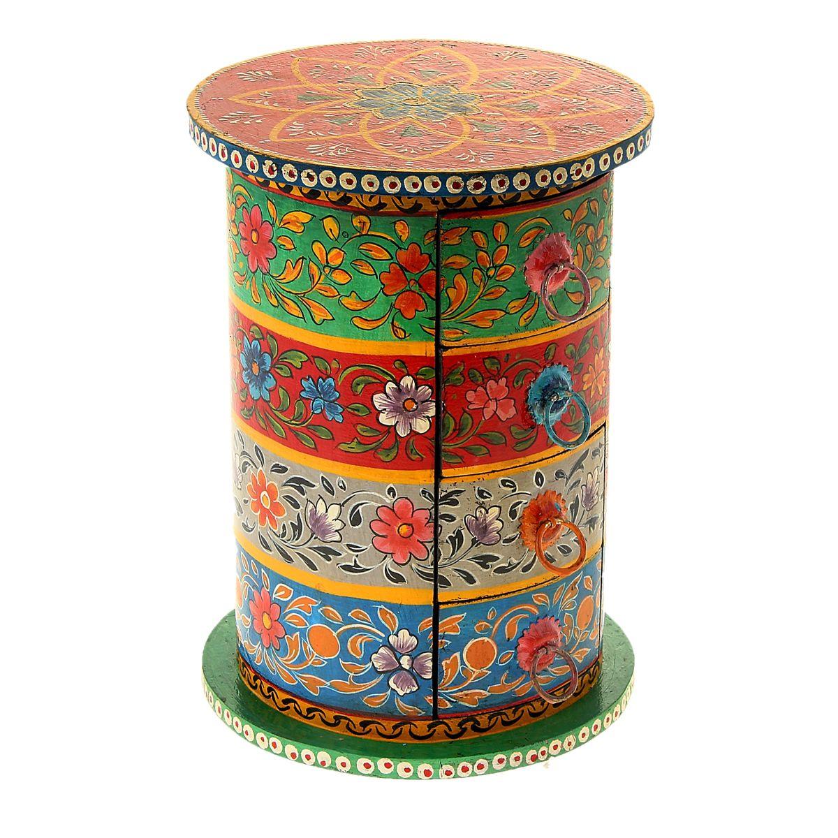 Шкатулка Sima-land Цветочные круги, 19,5 см х 19,5 см х 27 смFS-91909Шкатулка Sima-land Цветочные круги, изготовленная из МДФ, оформлена рисунками цветов. Изделие имеет 4 выдвижных ящичка.Едва бросив взгляд на такую эффектную шкатулку, женщина наверняка уже будет знать, что в нее можно положить любимые украшения, которые хочется бережно хранить, или, к примеру, бисер и бусины, из которых она любит мастерить настоящие миниатюрные шедевры. Шкатулка с ящиками Sima-land Цветочные круги станет удобным местом для хранения мелочей и настоящей изюминкой интерьера, привносящей в него колорит далеких и манящих стран.Размер ящичка: 14 см х 9,5 см х 5,5 см.