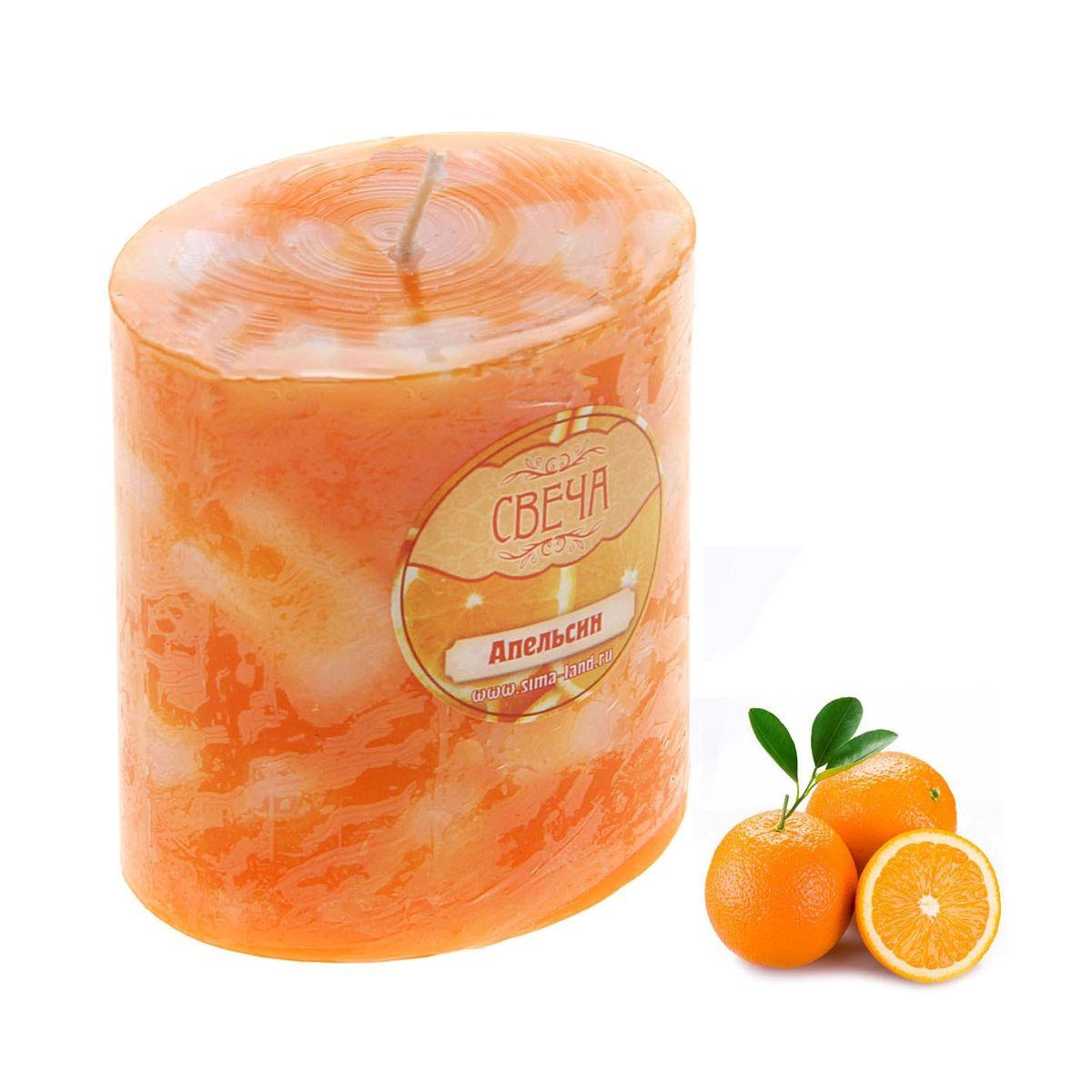 Свеча ароматизированная Sima-land Слияние, с ароматом апельсина, цвет: оранжевый, белый, высота 7 см849516Ароматизированная свеча Sima-land Слияние изготовлена из воска. Изделие отличается оригинальным дизайном и приятным ароматом апельсина. Свеча Sima-land Слияние - это прекрасный выбор для тех, кто хочет сделать запоминающийся презент родным и близким. Она поможет создать атмосферу праздника. Такой подарок запомнится надолго.