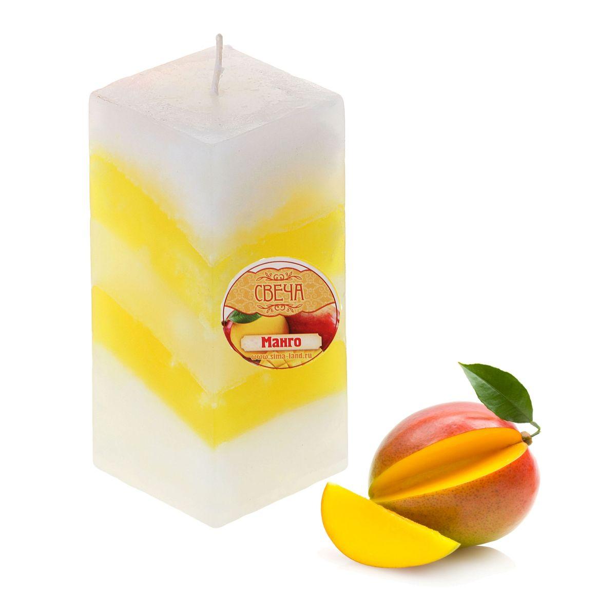 Свеча ароматизированная Sima-land Манго, высота 10 см. 849583UP210DFСвеча ароматизированная Sima-land Манго выполнена из воска и оформлена в виде столбика. Свеча отличается ярким дизайном и сочным ароматом манго, который понравится как женщинам, так и мужчинам. Создайте для себя и своих близких не забываемую атмосферу праздника и уюта в доме. Свеча будет радовать свежим ароматом и раскрасит серые будни яркими красками.