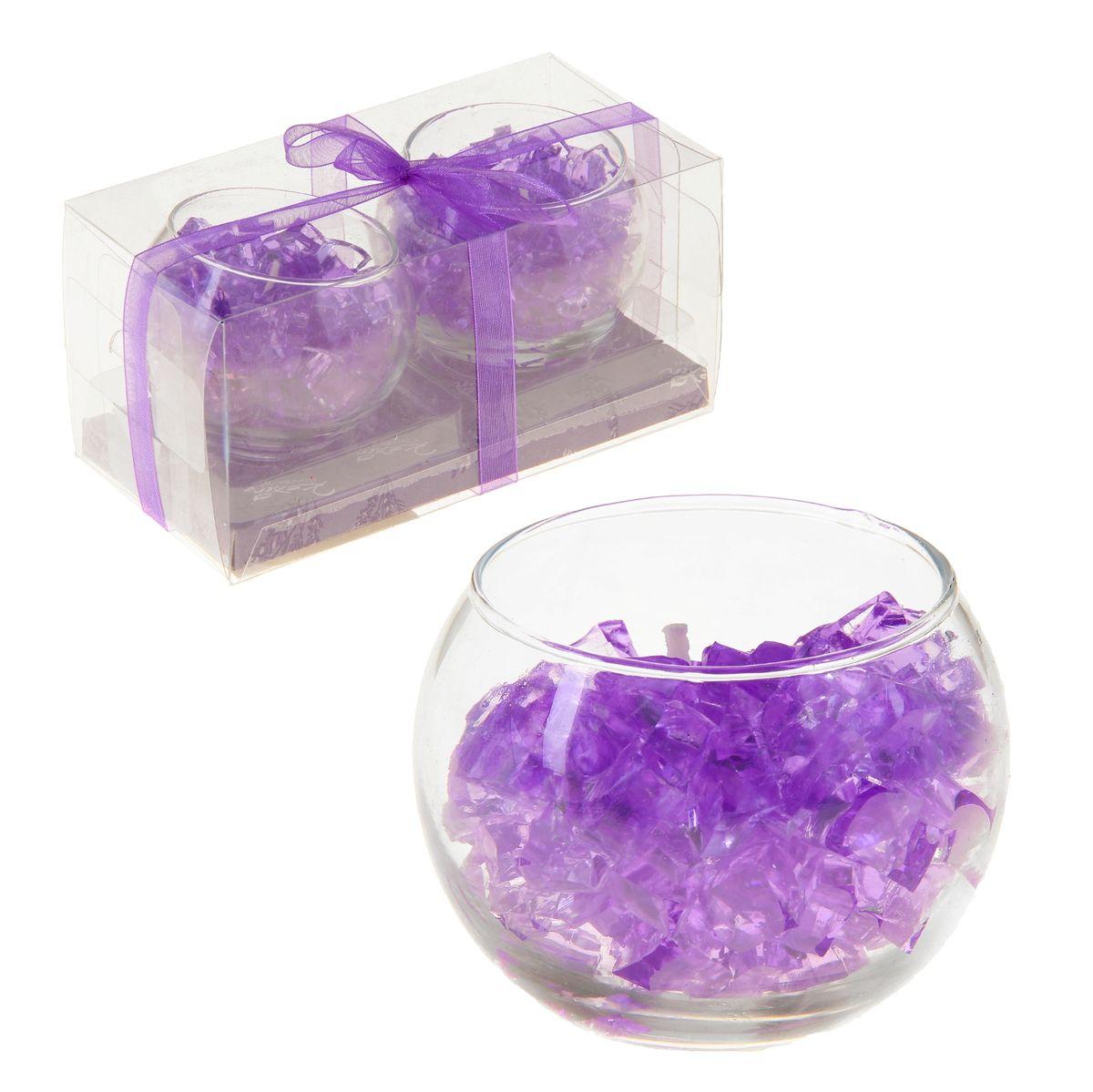 Набор свечей Sima-land Мармелад, цвет: фиолетовый, 2 штUP210DFНабор Sima-land Мармелад, выполненный из геля, состоит из двух декоративных свечей. Свечи расположены в стеклянных бокалах. Изделия порадуют вас своим дизайном. Такой набор может стать отличным подарком или дополнить интерьер вашей комнаты.