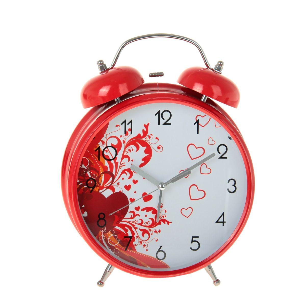 Часы-будильник Sima-land Ажурные сердца906619Как же сложно иногда вставать вовремя! Всегда так хочется поспать еще хотя бы 5 минут и бывает, что мы просыпаем. Теперь этого не случится! Яркий, оригинальный будильник Sima-land Ажурные сердца поможет вам всегда вставать в нужное время и успевать везде и всюду. Корпус будильника выполнен из металла. Циферблат имеет индикацию арабскими цифрами. Часы снабжены 4 стрелками (секундная, минутная, часовая и для будильника). На задней панели будильника расположен переключатель включения/выключения механизма, а также два колесика для настройки текущего времени и времени звонка будильника. Также будильник оснащен кнопкой, при нажатии которой подсвечивается циферблат. Пользоваться будильником очень легко: нужно всего лишь поставить батарейки, настроить точное время и установить время звонка. Необходимо докупить 3 батарейки типа АА (не входят в комплект).