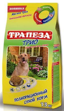 Корм сухой для собак Трапеза Трио с индейкой, кроликом и телятиной, 13 кг54949Содержит желатин, который способствует улучшению свертываемости крови у собак. Телятина - это мясо, в котором присутствуют особые экстрактивные вещества. они стимулируют выделение желудочного сока. Это помогает улучшить аппетит и процессы пищеварения у собак, повышает усваиваемость пищи. Стимулирует кровообращение. Благодаря наличию в этом продукте питания таких витаминов как B6, B12, B2, PP животные, употребляющие в пищу мясо индейки отличаются красивой, здоровой, блестящей шерстью. Если регулярно добавлять в рацион вашей собаки индейку - у нее никогда не будет аллергических реакций По содержанию белков оно уступает только индюшке. Причем, уже доказано, что организм собак усваивает 90% белка из мяса крольчатины, тогда как из говядины, только 60%. Оно содержит гораздо меньше воды, хотя само сочное и нежное, чем-то напоминает куриное. Уникальное сочетание трех видов мяса: кролика, телятины, индейки. Укрепляет иммунитет. Способствует правильной работе кишечника. ...