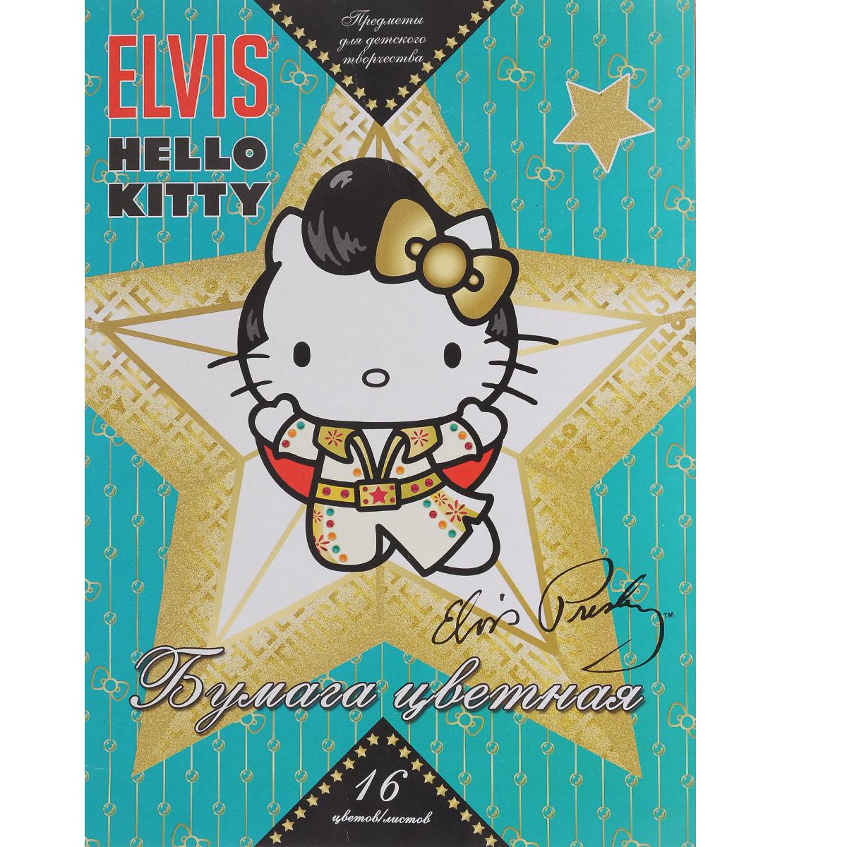 Цветная бумага Hello Kitty. Elvis, 16 цветов. HK31_бирюзовыйHK31_бирюзовыйЦветная бумага Hello Kitty. Elvis позволит вашему ребенку создавать всевозможные аппликации и поделки. Набор состоит из 16 листов, скрепленных скобами. Обложка изготовлена из плотного картона с изображением Hello Kitty. Создание поделок из цветной бумаги поможет ребенку в развитии творческих способностей, кроме того, это увлекательный досуг.
