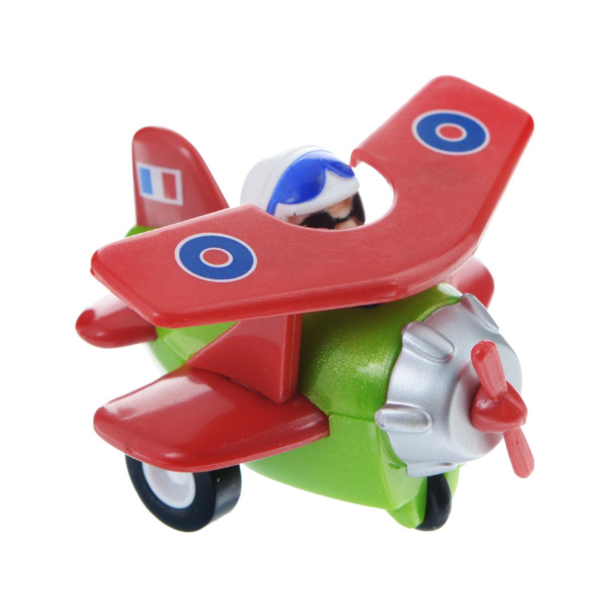 Hans Самолет инерционный цвет красный зеленый
