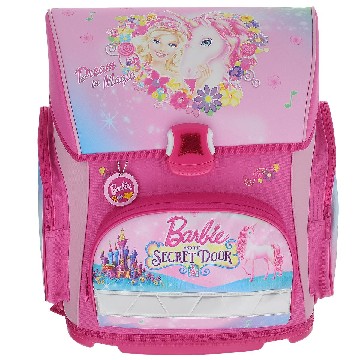 Ранец Hatber 37х30х17см OPTIMUM Barbie The Secret Door (Barbie)NRk_20628Усовершенствованная серия ранца для младшего школьного возраста. Жесткий анатомический каркас и форма спинки способствуют равномерному распределнию нагрузки и формированию правильной осанки.