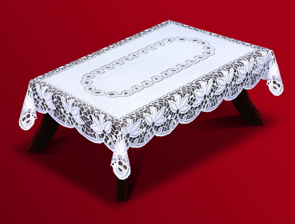 Скатерть Haft, прямоугольная, цвет: белый, 100 x 150 см. 200810/100200810/100Великолепная прямоугольная скатерть Haft, выполненная из полиэстера, органично впишется в интерьер любого помещения, а оригинальный дизайн удовлетворит даже самый изысканный вкус. Скатерть изготовлена из сетчатого материала с ажурным цветочным рисунком. Скатерть Haft создаст праздничное настроение и станет прекрасным дополнением интерьера гостиной, кухни или столовой.