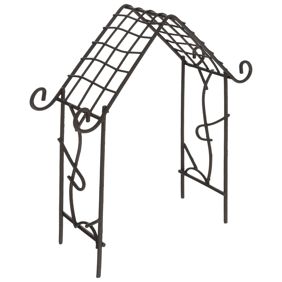 Миниатюра кукольная ScrapBerrys Мини арка-домик, цвет: коричневый, 12,5 см х 4 см х 15,5 смSCB271022Миниатюра кукольная ScrapBerrys Мини арка-домик изготовлена из высококачественного металла в виде небольшой арки. Изделие украшено изящными коваными завитками. Такая миниатюра прекрасно подойдет для декорирования кукольных домиков, а также для оформления работ в самых различных техниках. С ее помощью можно обставлять румбокс. Можно использовать в шэдоубоксах или просто как изысканные украшения для скрап-работ. Размер изделия: 12,5 см х 4 см х 15,5 см.