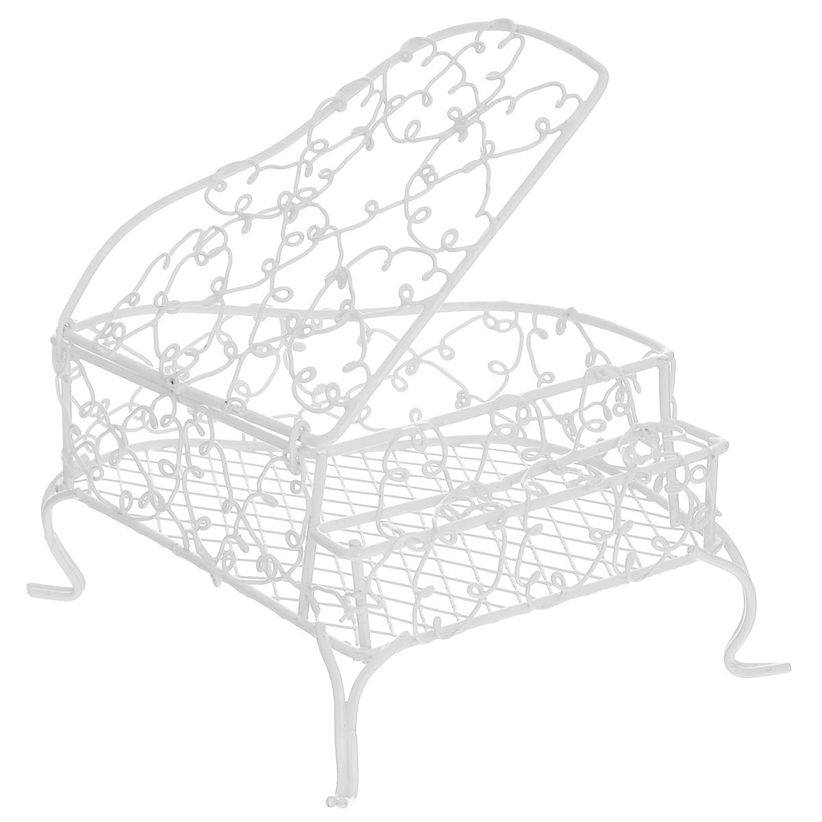 Миниатюра кукольная ScrapBerrys Мини-рояль, цвет: белый, 12 х 10 х 6,5 смSCB271001Миниатюра кукольная ScrapBerrys Мини-рояль изготовлена из высококачественного металла в виде кованого рояля. Изделие оснащено открывающейся крышкой и украшено коваными завитушками. Такая миниатюра прекрасно подойдет для декорирования кукольных домиков, а также для оформления работ в самых различных техниках. С ее помощью можно обставлять румбокс. Можно использовать в шэдоубоксах или просто как изысканные украшения для скрап-работ. Размер изделия: 12 х 10 х 6,5 см.