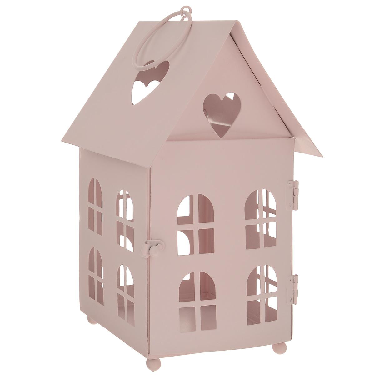 Домик-фонарик декоративный Blossom Line, цвет: нежно-розовый, 11 х 11 х 18,5 смBL0070131Декоративный домик-фонарик Blossom Line, изготовленный из окрашенного металла, - прекрасный выбор для тех, кто хочет сделать запоминающийся подарок родным и близким. Кроме того, он может хорошо вписаться в интерьер вашего дома или дачи. Изделие можно декорировать разными материалами (наклейки, ткань, ленты, декоративные цветы и многое другое) и сделать оригинальную композицию. Домик-фонарик оснащен открывающейся дверцей и металлическим кольцом для подвешивания на крючок. Размер: 11 см х 11 см х 18,5 см. Размер дверцы: 9 см х 11 см.
