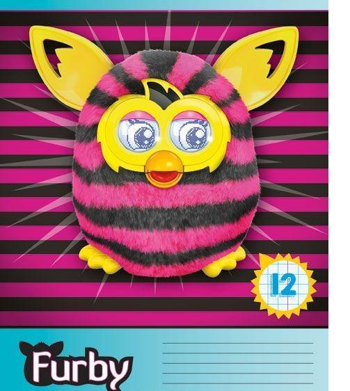 Furby Набор тетрадей в клетку, 12 листов, формат А5, 10 шт125027
