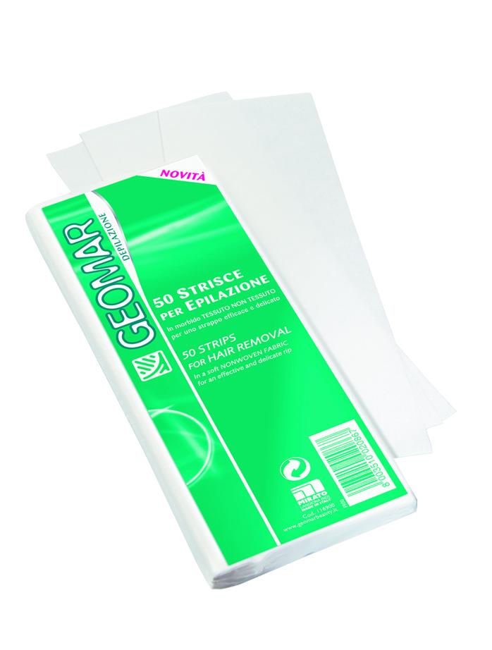 Geomar Полоски для депиляции 50 шт.38680701Полоски для депиляции из мягкого нетканого материала для эффективного и деликатного удаления волос.