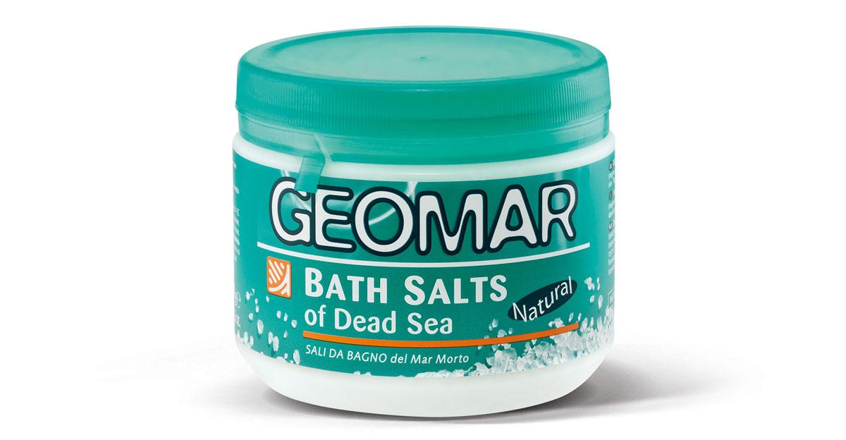 Geomar Соль мертвого моря для принятия ванн38681501Формула морской соли для ванн содержит природные компоненты (магний, калий, натрий, кальций, бром, сера), которые глубоко очищают кожу. Соль предназначена для лечения дефектов кожи, связанных с целлюлитом.