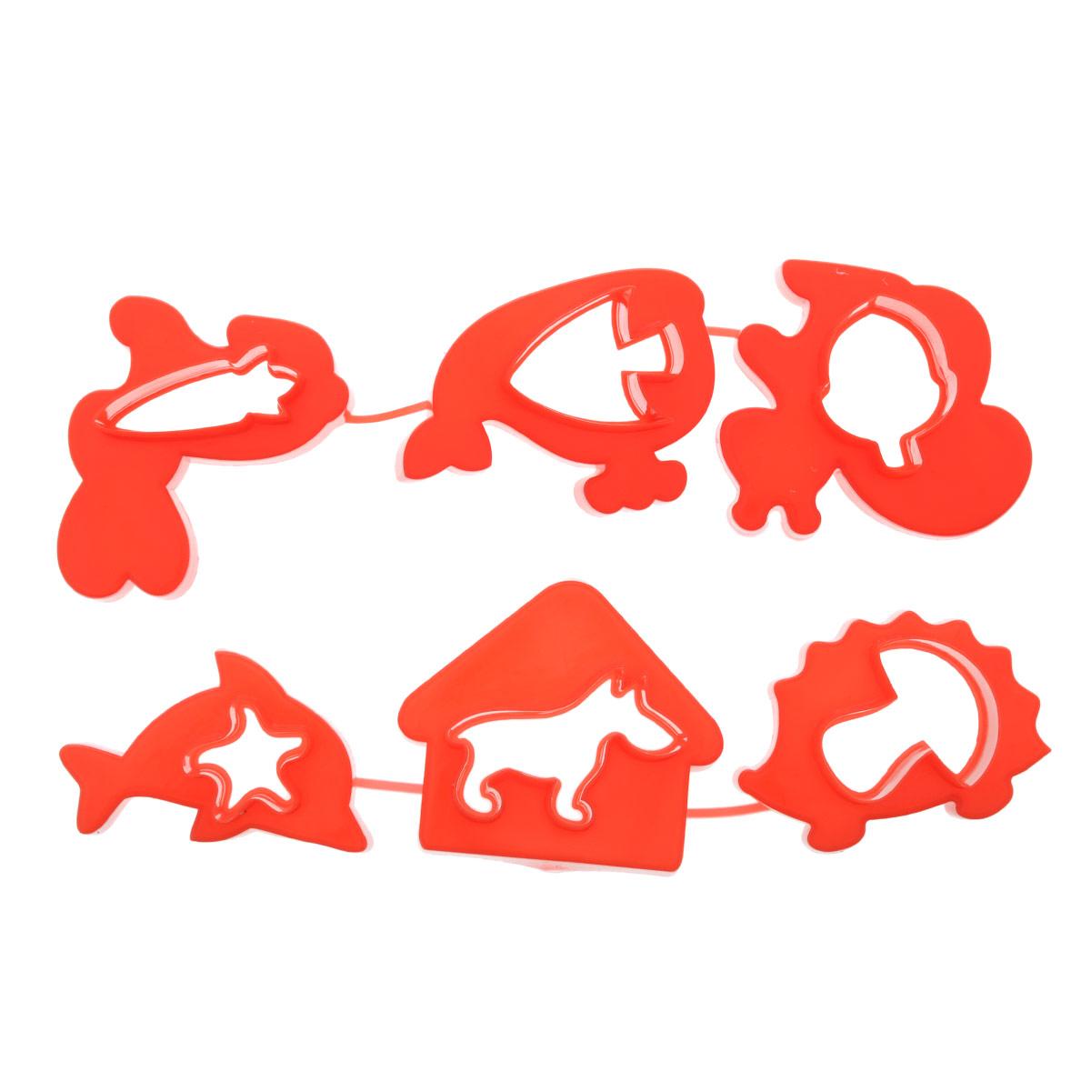 Формочки для лепки и моделирования №1 Луч. 22С 1419-08 красный22С 1419-08 красныйФормочки предназначены для моделирования и лепки из пластилина, мягкого воска, глины, теста. При производстве формочек использованы полимеры, для которых разрешен контакт с пищевыми продуктами, поэтому их можно использовать так же в кулинарии (выпечка, приготовление канапе, детских бутербродов и т.д.). В наборе: фигурки животных (белочка с орешком, собака с будкой, кит и рыбка, дельфин и морская звезда, ёжик с грибом, заяц с морковкой).