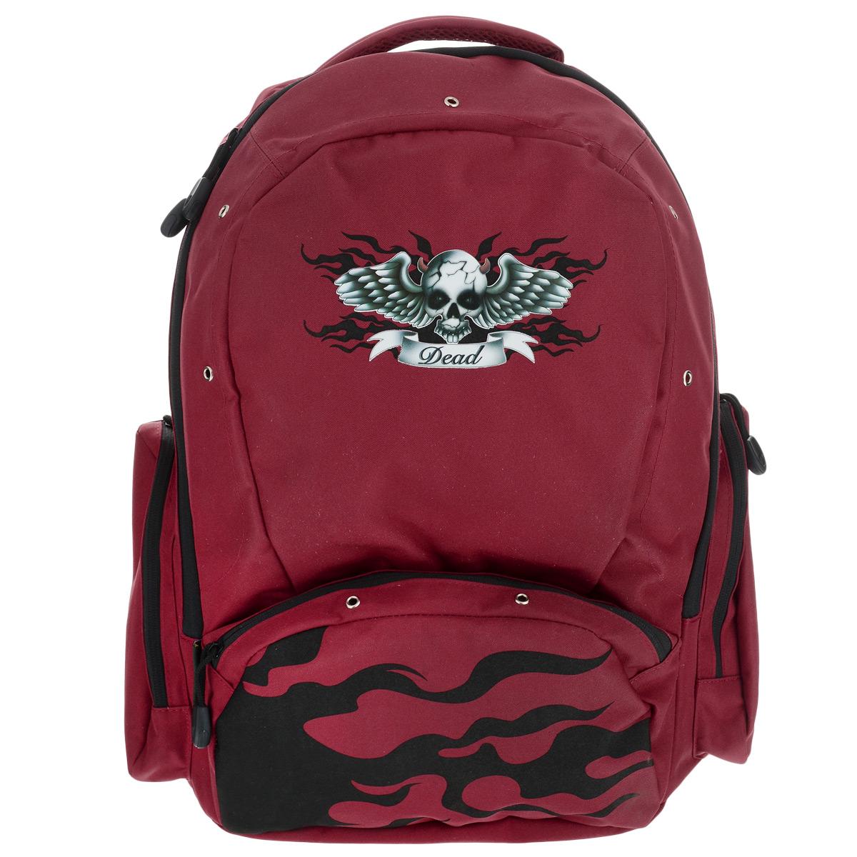 Рюкзак школьный Tiger Enterprise Babylon, цвет: красный, черныйOM-667-11/1Стильный школьный рюкзак Tiger Family Babylon - это красивый и удобный рюкзак, который подойдет всем, кто хочет разнообразить свои школьные будни. Благодаря анатомической рельефной спинке, повторяющей контур спины и двум эргономичным плечевым ремням, длина которых регулируется, у ребенка не возникнут проблемы с позвоночником. Ранец, выполненный из антибактериального, водоотталкивающего и не выгорающего на солнце материала, оформлен аппликацией и люверсами.Рюкзак имеет одно большое отделение, которое закрывается на молнию. Внутри большого отделения расположен накладной карман на резинке и маленький кармашек на молнии. По бокам рюкзака расположены два внешних кармана на молнии. Изделие оснащено удобной ручкой для переноски в руках. Эргономичный школьный рюкзак Tiger Family Babylon станет незаменимым спутником вашего ребенка в походах за знаниями.