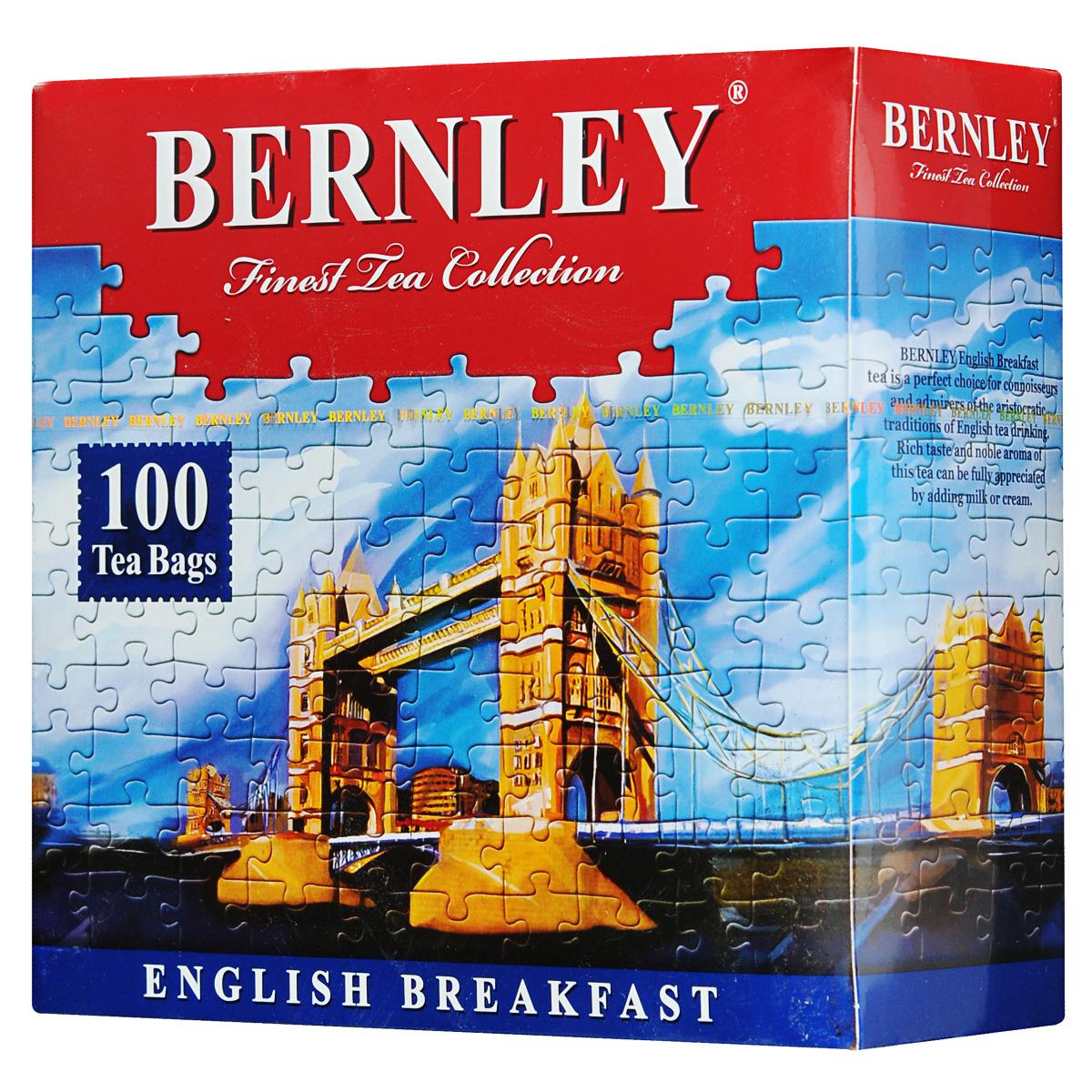 Bernley English Breakfast черный чай в пакетиках, 100 шт1070015Bernley English Breakfast - высокогорный черный чай для традиционного английского чаепития. Крепкий чай темно-красного цвета с богатым, насыщенным, невероятно свежим и мощным вкусом, характерным неповторимым ароматом и тонкими фруктовыми нотками в длительном и сочном послевкусии.