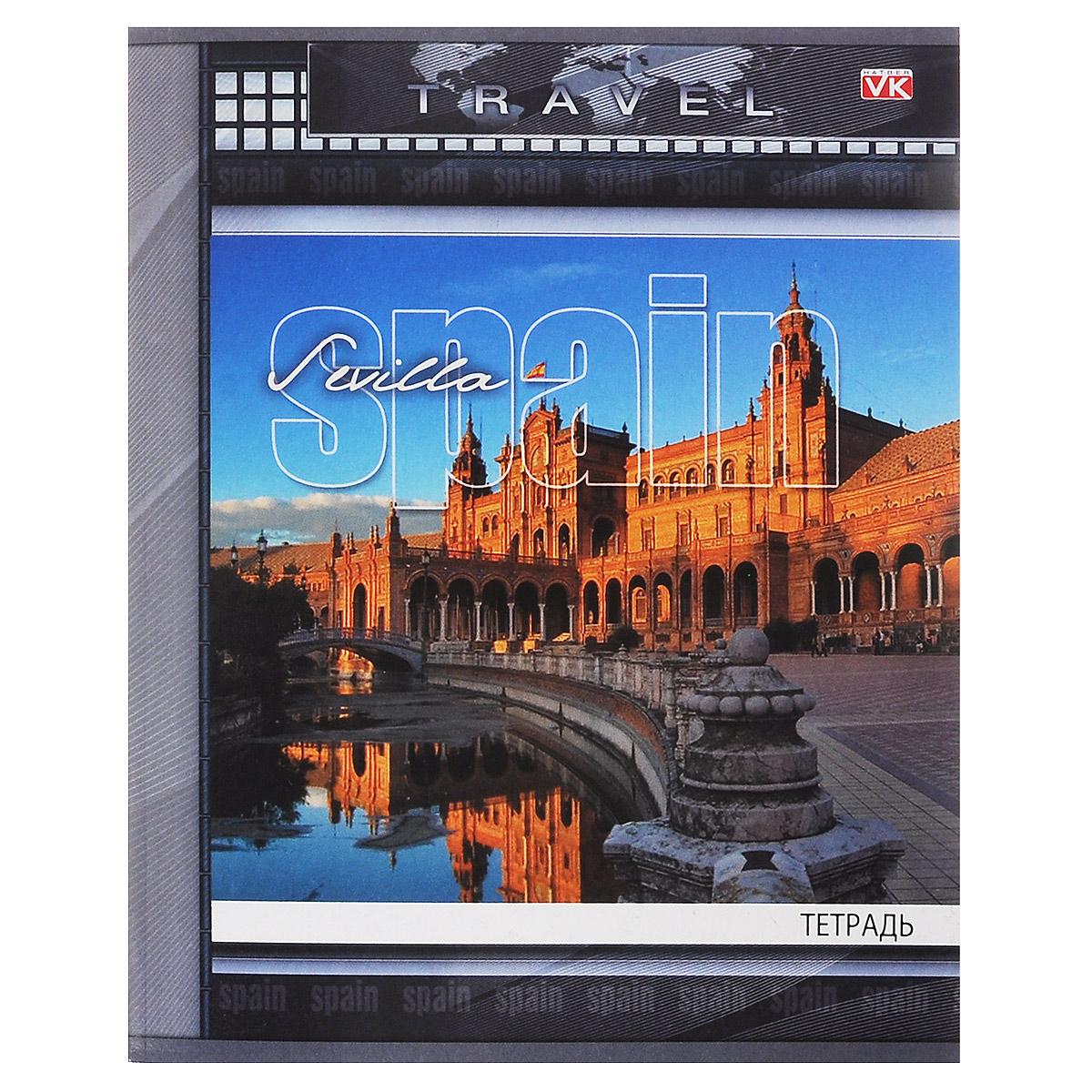 Тетрадь Hatber Travel. Spain, 96 листов96Т5С1_07941Рабочая тетрадь Travel. Spain в клетку содержит 96 листов, на каждом их которых есть клеточка на скобе. Отлично подойдет для занятий не только школьнику, но и студенту. Тетрадь удобна как для учебы, так и для работы.
