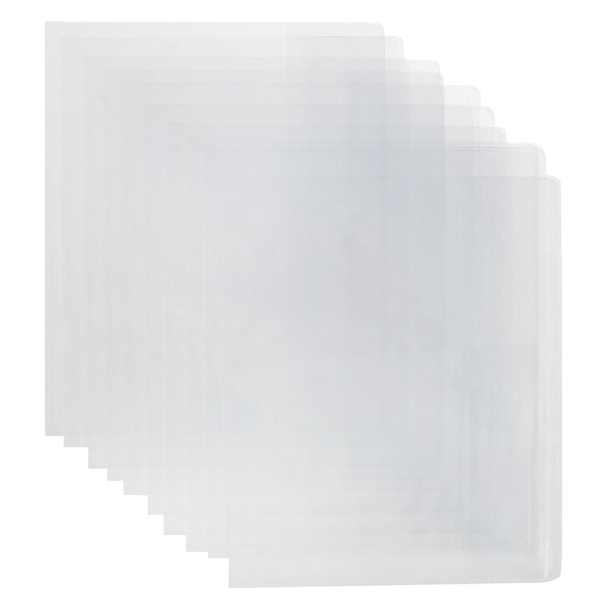 Комплект обложек для дневника и тетради Брупак, цвет: прозрачный, 21 см х 35,5 см, 10 штК10-14Набор цветных обложек для тетрадей и дневников Брупак предназначены для защиты тетрадей, дневников от пыли, грязи и механических повреждений. Обложки с прозрачными клапанами. Рекомендовано для детей старше трех лет.