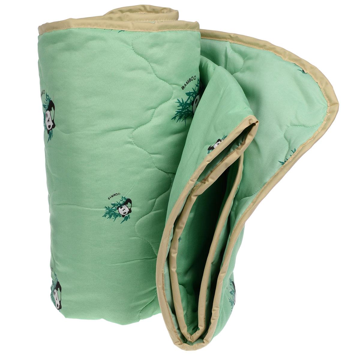 Одеяло всесезонное OL-Tex Бамбук, наполнитель: волокно бамбука, цвет: зеленый, 172 х 205 смМБПЭ-18-3 зеленый, бамбукВеликолепное всесезонное одеяло OL-Tex Бамбук подарит вам ни с чем несравнимую мягкость и согреет в холодное время года. При этом одеяло невероятно легкое: под ним также не будет жарко летом. Одеяло из коллекции Бамбук создано с использованием натурального и экологически чистого бамбукового волокна. Чехол одеяла зеленого цвета выполнен из 100% полиэстера и оформлен принтом с изображением бамбука и панды. Эксклюзивная стежка и атласный кант по краю придают изделию красивый внешний вид. Натуральная, экологически чистая основа бамбукового волокна обладает природными антибактериальными и дезодорирующими свойствами, останавливает рост и развитие бактерий, препятствует появлению неприятных запахов. Эти качества сохраняются даже после многократных стирок. Идеально подходит людям, страдающим аллергией и астмой. Основные свойства бамбукового наполнителя: - отличная воздухопроницаемость и впитывающие свойства, - дезодорирующие и бактерицидные свойства, ...