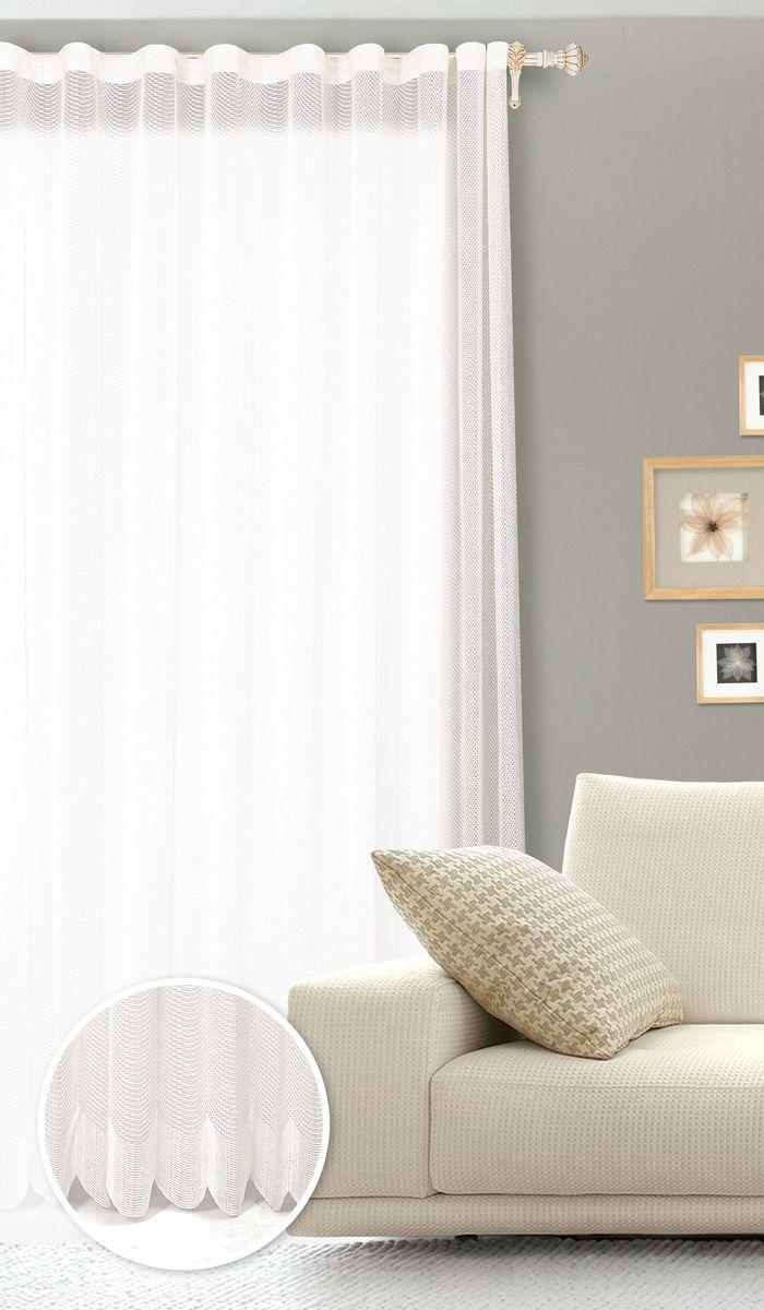 Штора готовая для гостиной Garden, на ленте, цвет: белый, 200 х 260 см. С 537299 V1133С 537299 V1133Готовая штора для гостиной Garden выполнена из сетчатой ткани (100% полиэстера). Необычный дизайн и нежная цветовая гамма привлекут к себе внимание и органично впишутся в интерьер комнаты. Штора крепится на карниз при помощи ленты, которая поможет красиво и равномерно задрапировать верх. Штора Garden великолепно украсит любое окно. Стирка при температуре 30°С.