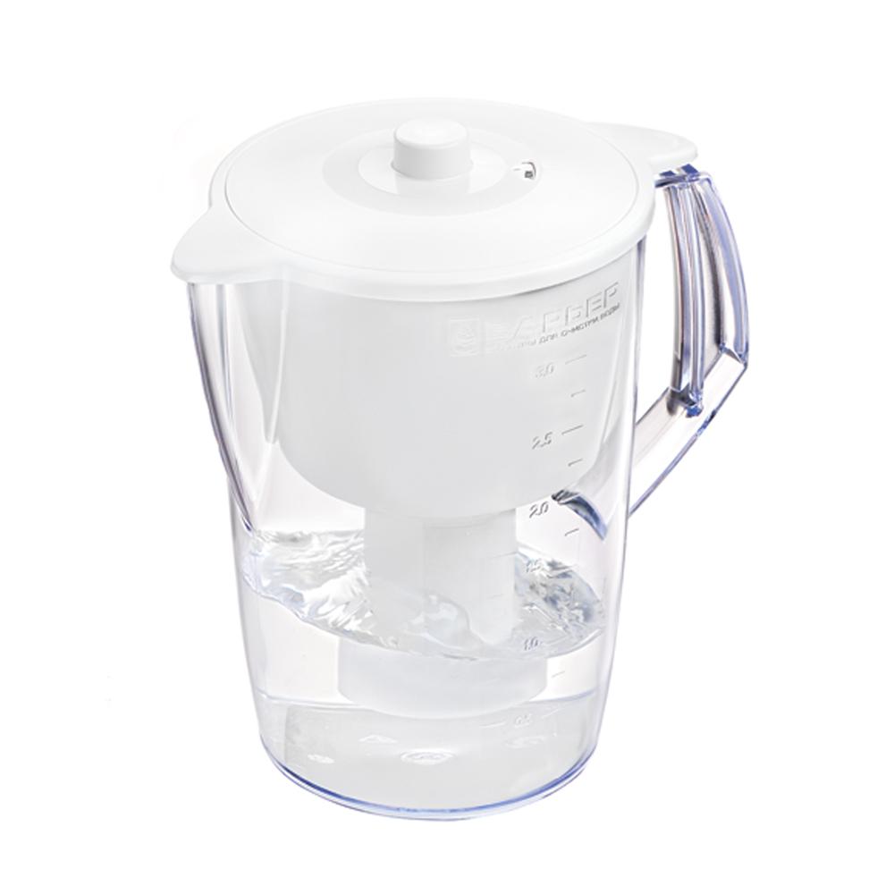Фильтр-кувшин для воды Барьер Норма, цвет: белыйФильтр-кувшин Барьер Норма цвет: белыйФильтр Norma - одна из самых популярных моделей фильтров-кувшинов. Кувшин обеспечит Вам нужное количество чистой воды за раз и при этом не будет занимать много места на кухне. Фильтр Norma - это признанное российскими потребителями сочетание доступности с большим количеством отфильтрованной воды. Фильтр-кувшин предназначен для доочистки питьевой водопроводной воды. Эффективно очищает воду от активного хлора, органических и хлороорганических соединений, токсичных металлов и других вредных веществ. Устраняет неприятные запахи и привкусы. Фильтр укомплектован сменной фильтрующей кассетой БАРЬЕР-4. В состав кассеты входят особая комбинация высококачественных активированных углей для сорбции вредных примесей и специальные ионообменные материалы для удаления из воды ионов токсичных металлов. Особенности данного фильтра: высококачественный пластик, допущенный для контакта с питьевой водой; возможность мыть в посудомоечной машине; уникальная...