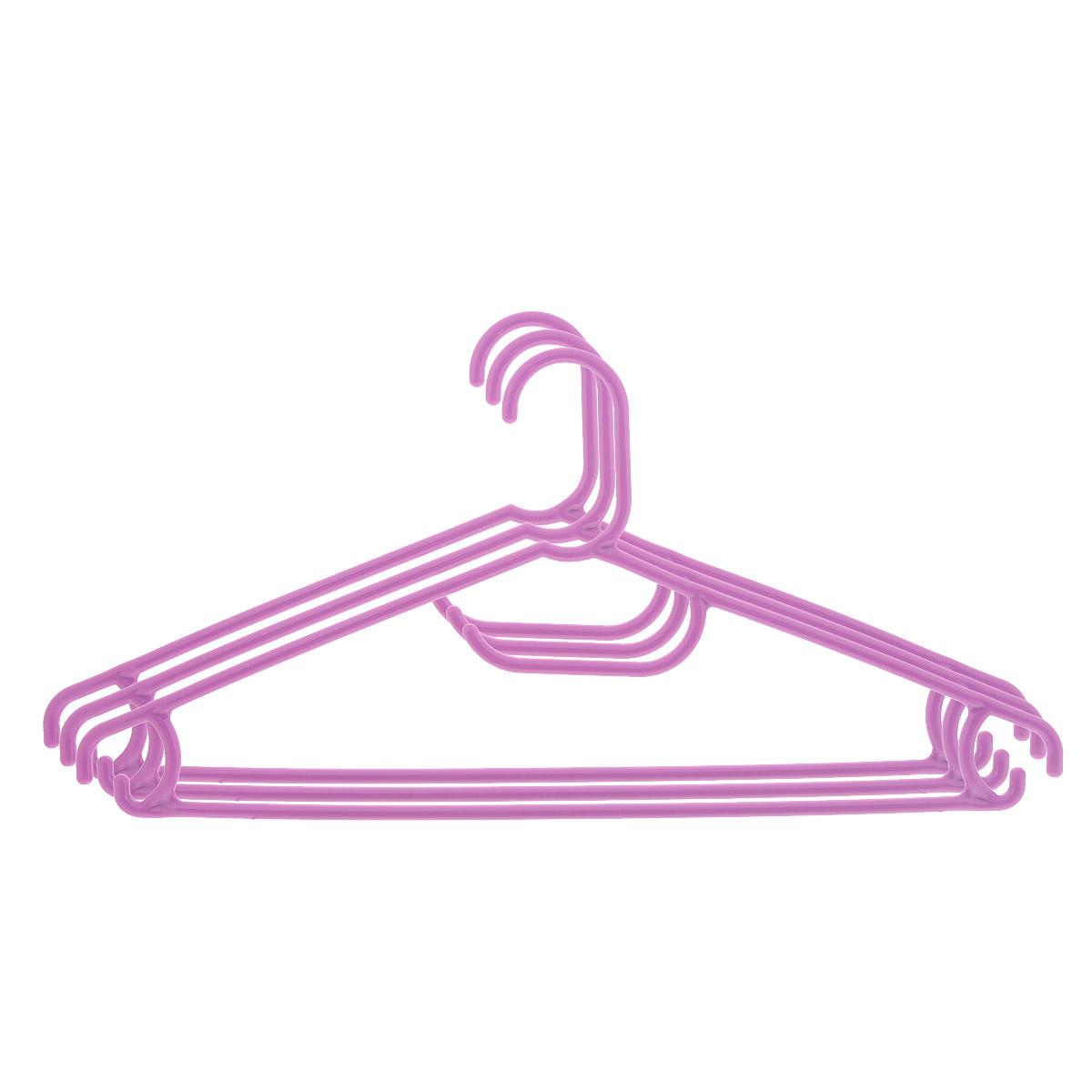 Набор вешалок Econova, цвет: фиолетовый, размер 48, 3 штС12354 фиолетовыйНабор Econova, выполненный из прочного пластика, состоит из 3 вешалок. Каждое изделие оснащено перекладиной, боковыми крючками, а также крючком для галстуков. Вешалка - это незаменимая вещь для того, чтобы ваша одежда всегда оставалась в хорошем состоянии. Комплектация: 3 шт. Размер одежды: 48.