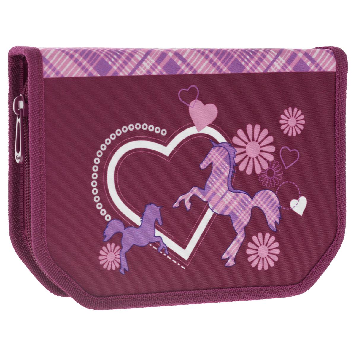"""Пенал Tiger Enterprise """"Classic Collection"""", с наполнением, цвет: фиолетовый, 22 предмета 11017/TG_фиолетовый"""